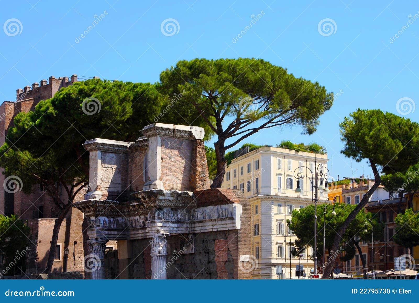 Ρώμη, Ιταλία. Ρωμαϊκό φόρουμ