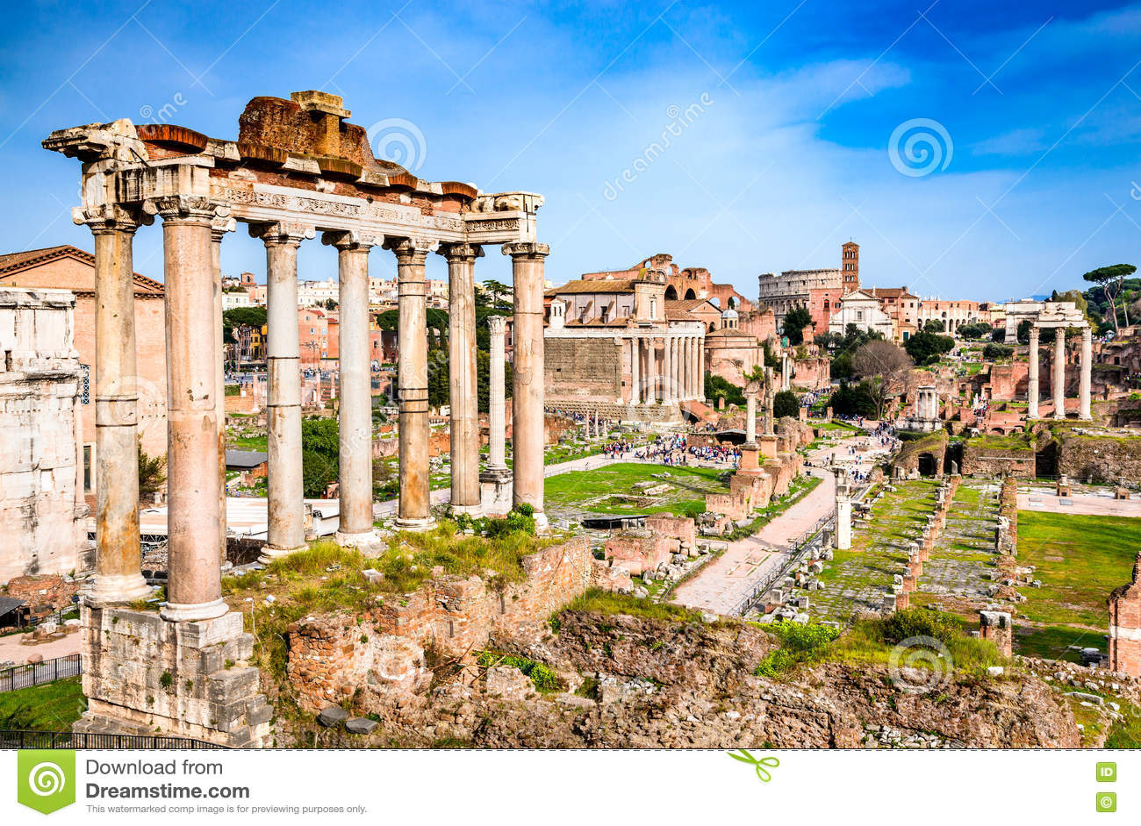 Ρώμη, Ιταλία - καταστροφές του αυτοκρατορικού φόρουμ
