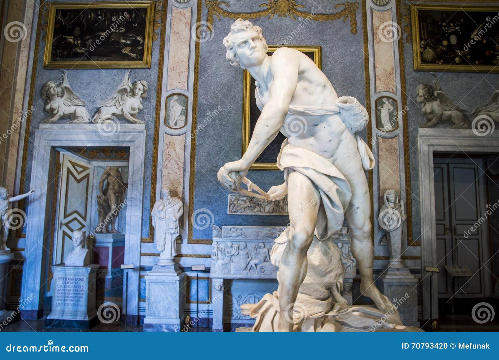 Ρώμη, Galleria Borghese, Δαβίδ από το Gian Lorenzo Bernini