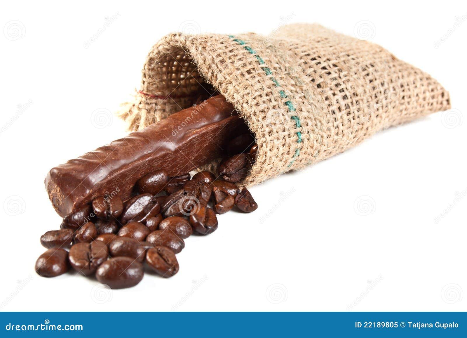 σάκος λινού καφέ φασολιών