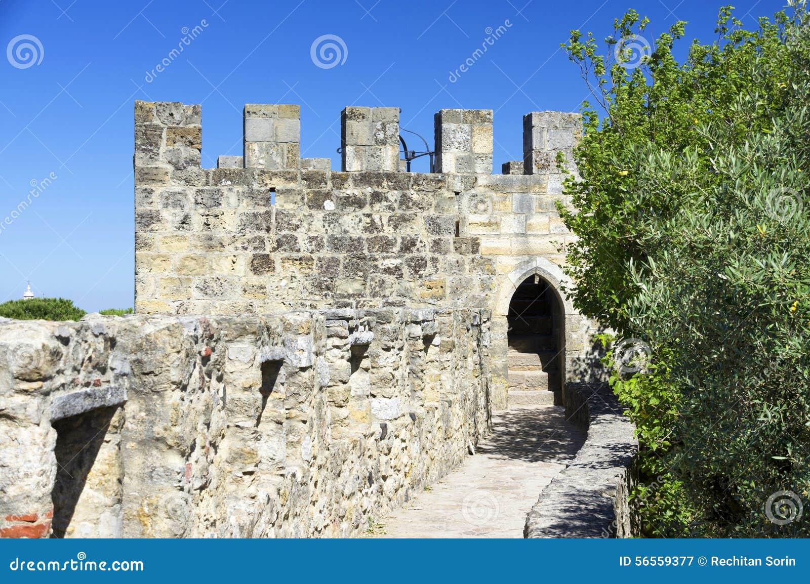 Download Σάο Jorge Castle στη Λισσαβώνα Στοκ Εικόνα - εικόνα από ορόσημο, εξωτερικό: 56559377
