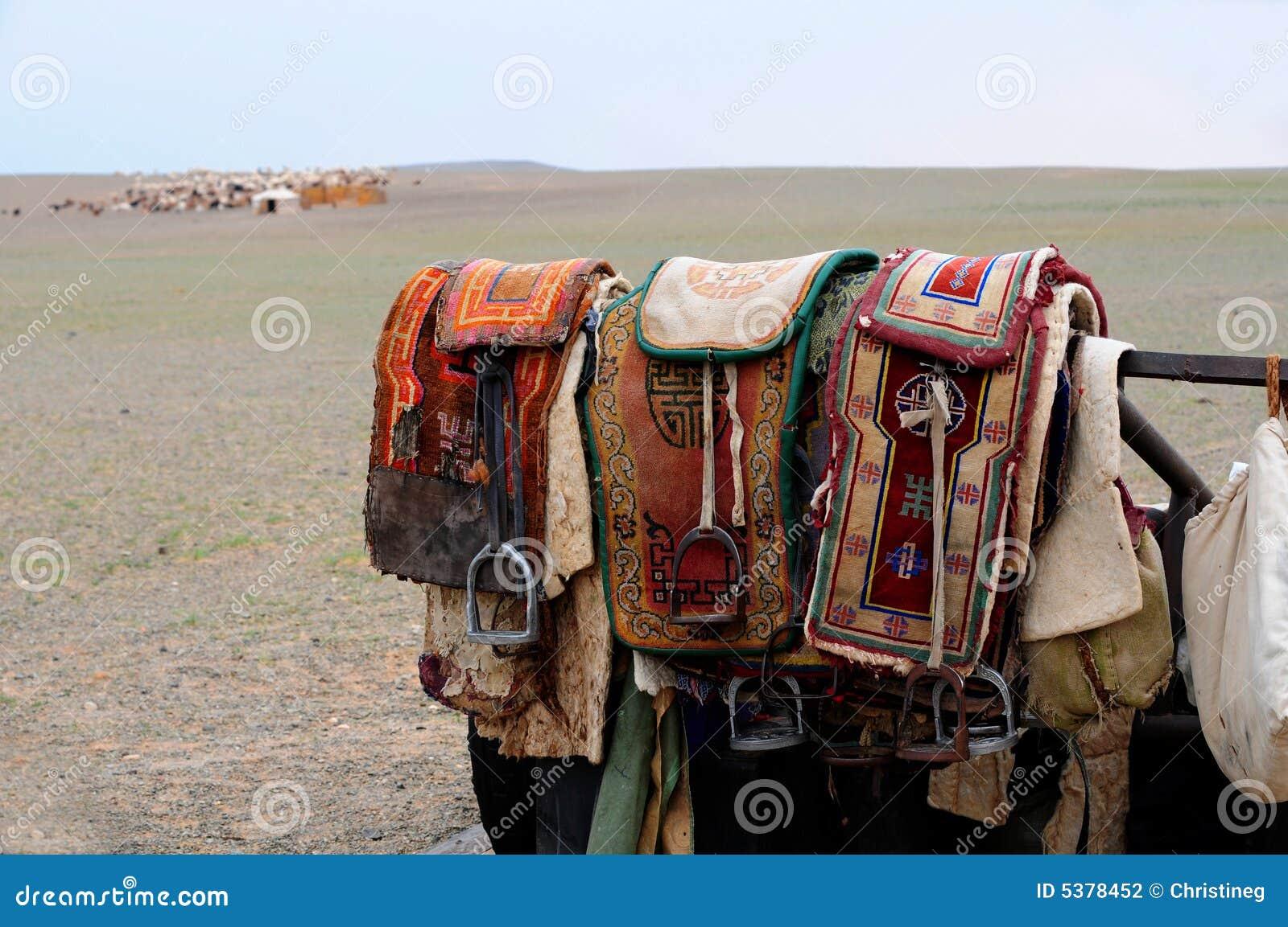 σέλες νομάδων της Μογγολίας αλόγων