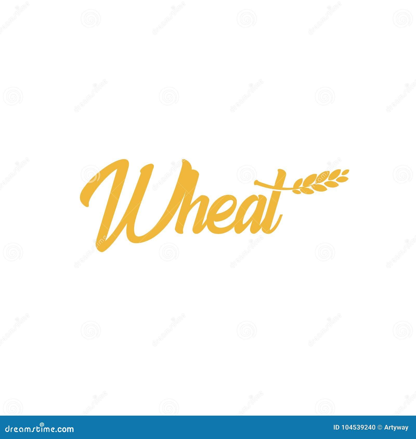 Σίτος σιταριού logotype, εικονίδιο κριθαριού, λογότυπο βρωμών, σημάδι ρυζιού, έμβλημα σπαδίκων Φωτεινό χρυσό διάνυσμα συγκομιδών