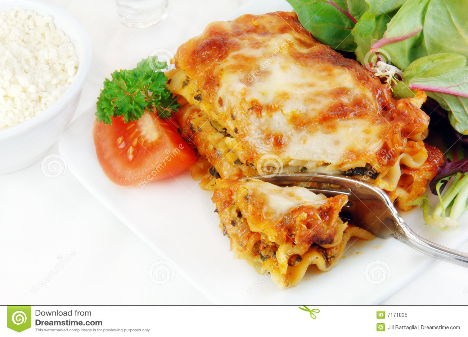 σαλάτα lasagna