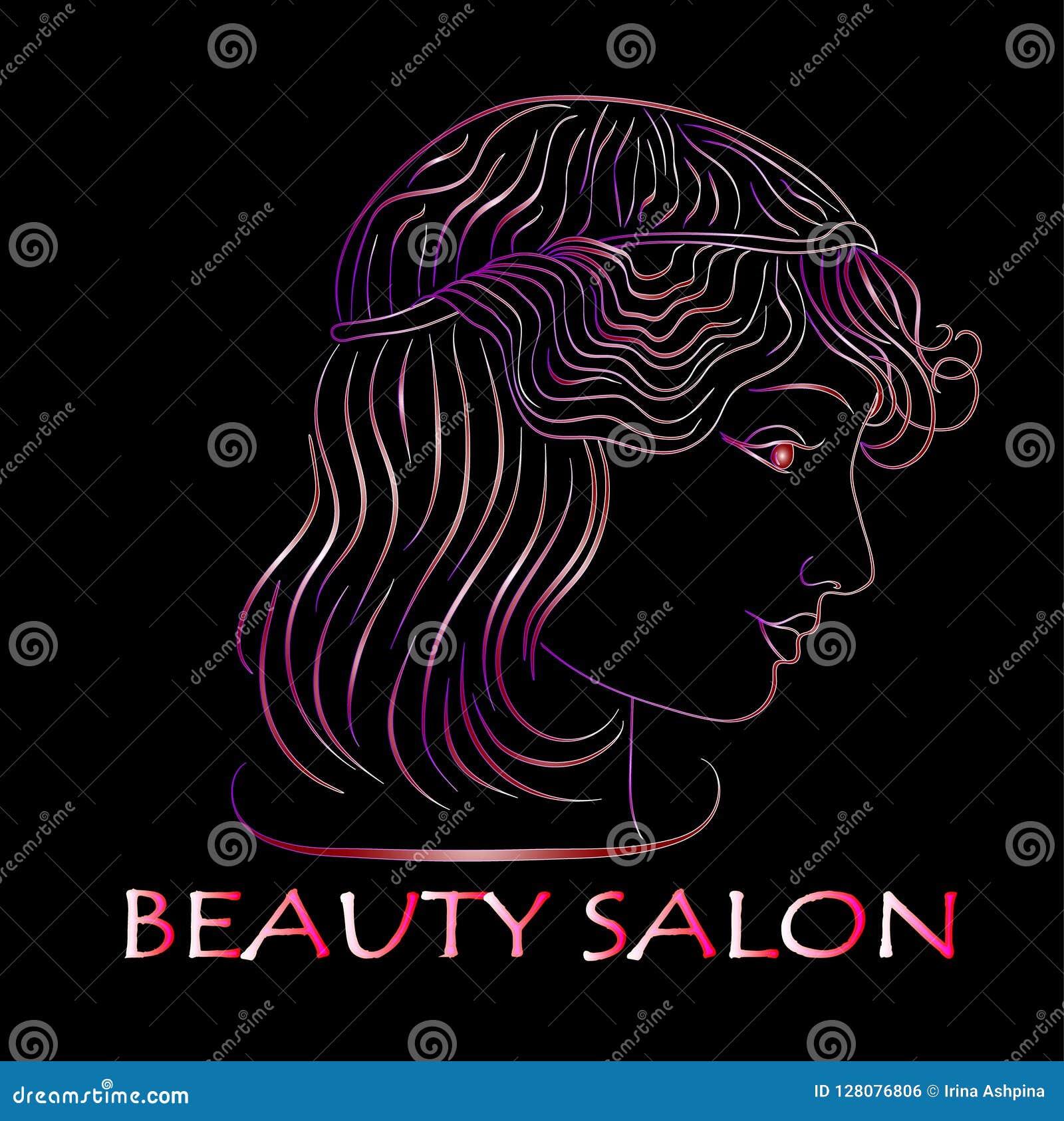 Σαλόνι ομορφιάς, σχεδιάγραμμα κοριτσιών νέου, διάνυσμα