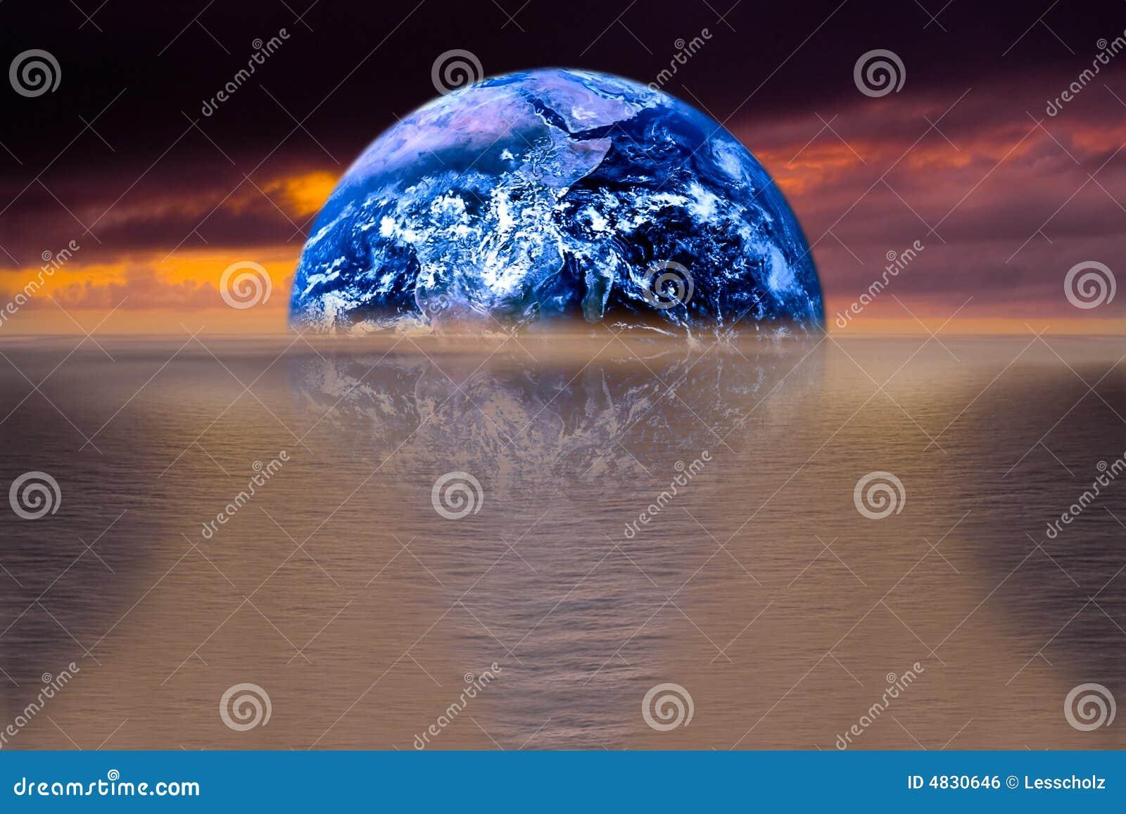 σαν ωκεανό γήινης εικόνας ανασκόπησης