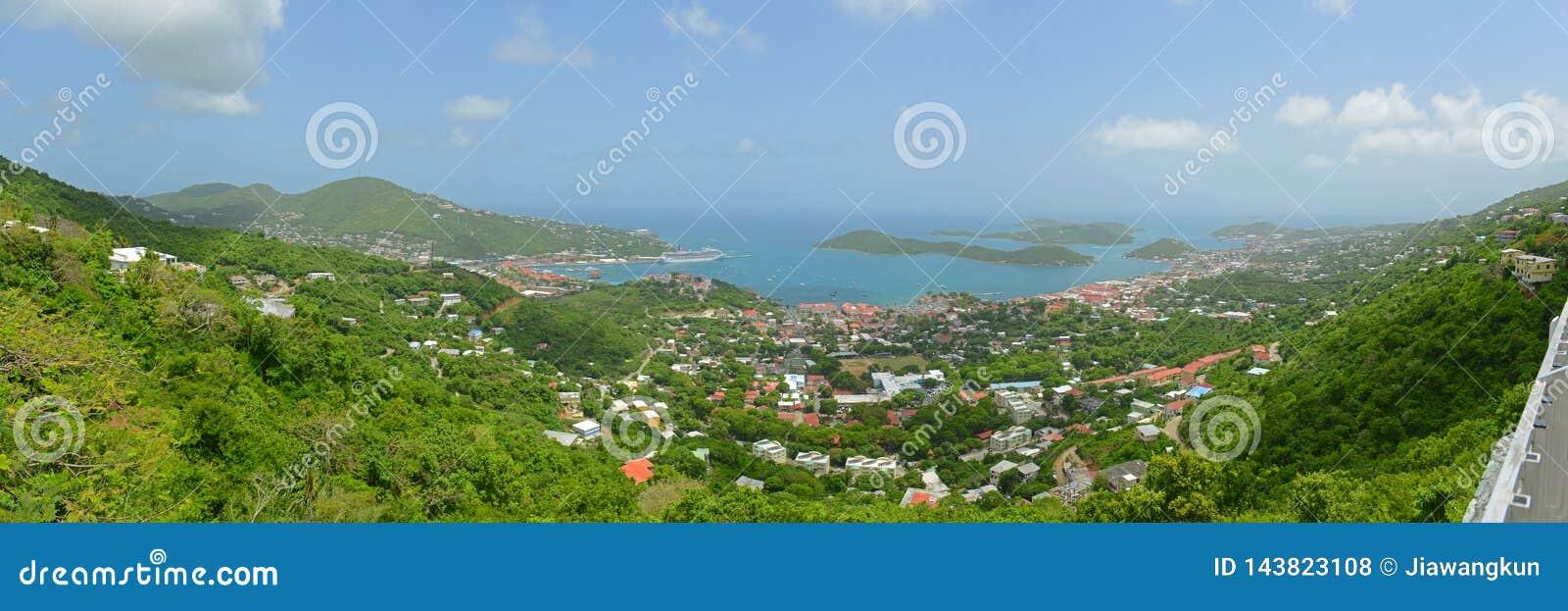 Σαρλόττα Amalie, νησί Αγίου Thomas, αμερικανικοί Παρθένοι Νήσοι