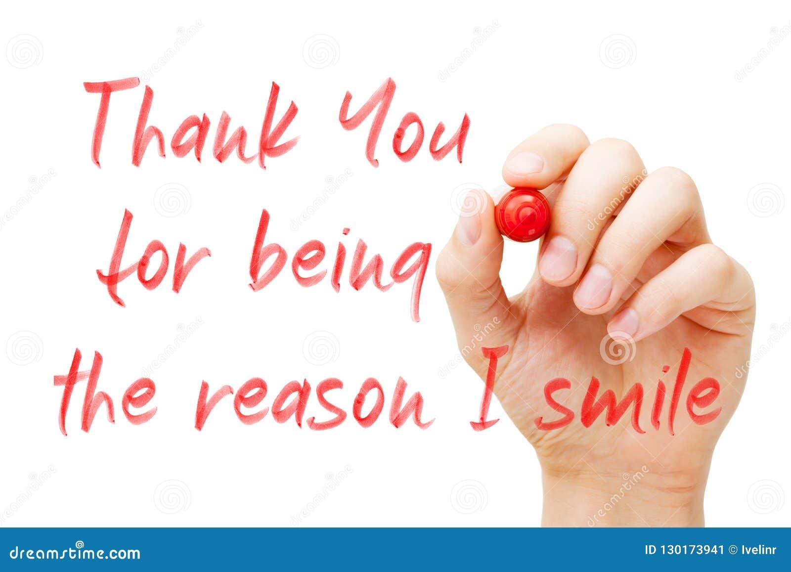 Σας ευχαριστώ για την ύπαρξη ο λόγος που χαμογελώ