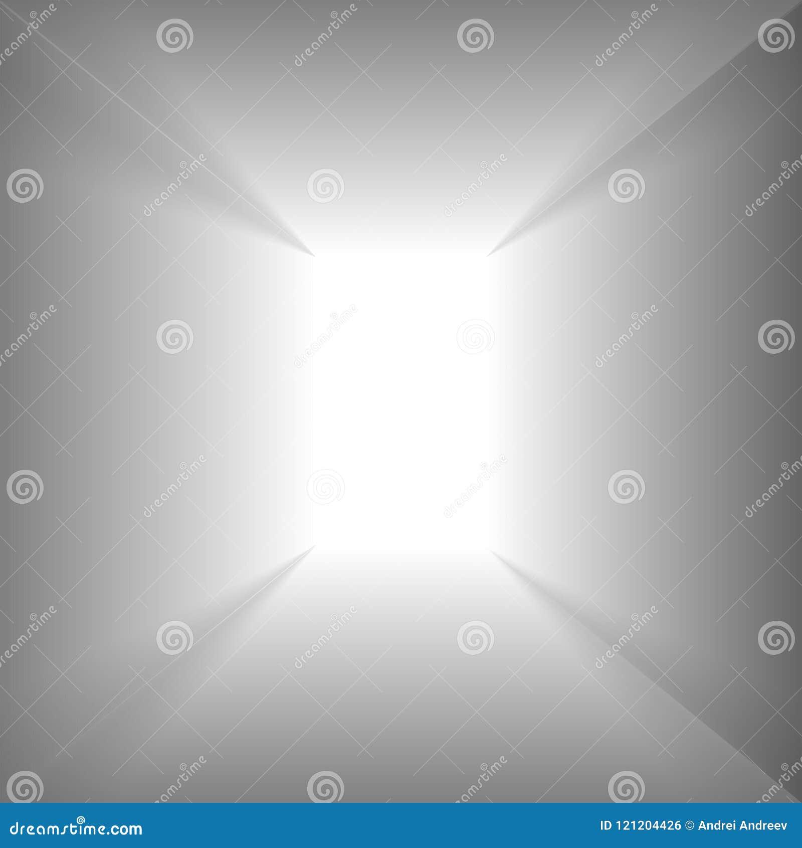 Σαφές άσπρο δωμάτιο στον όμορφο νέο απόκρυφο κόσμο