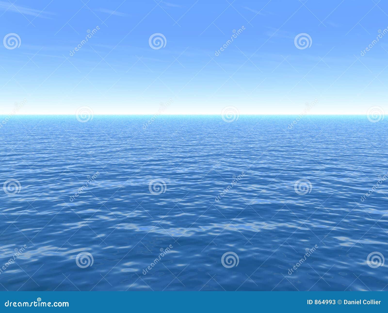 σαφής ημέρα καυτή κατά τη διάρκεια του καλοκαιριού θάλασσας
