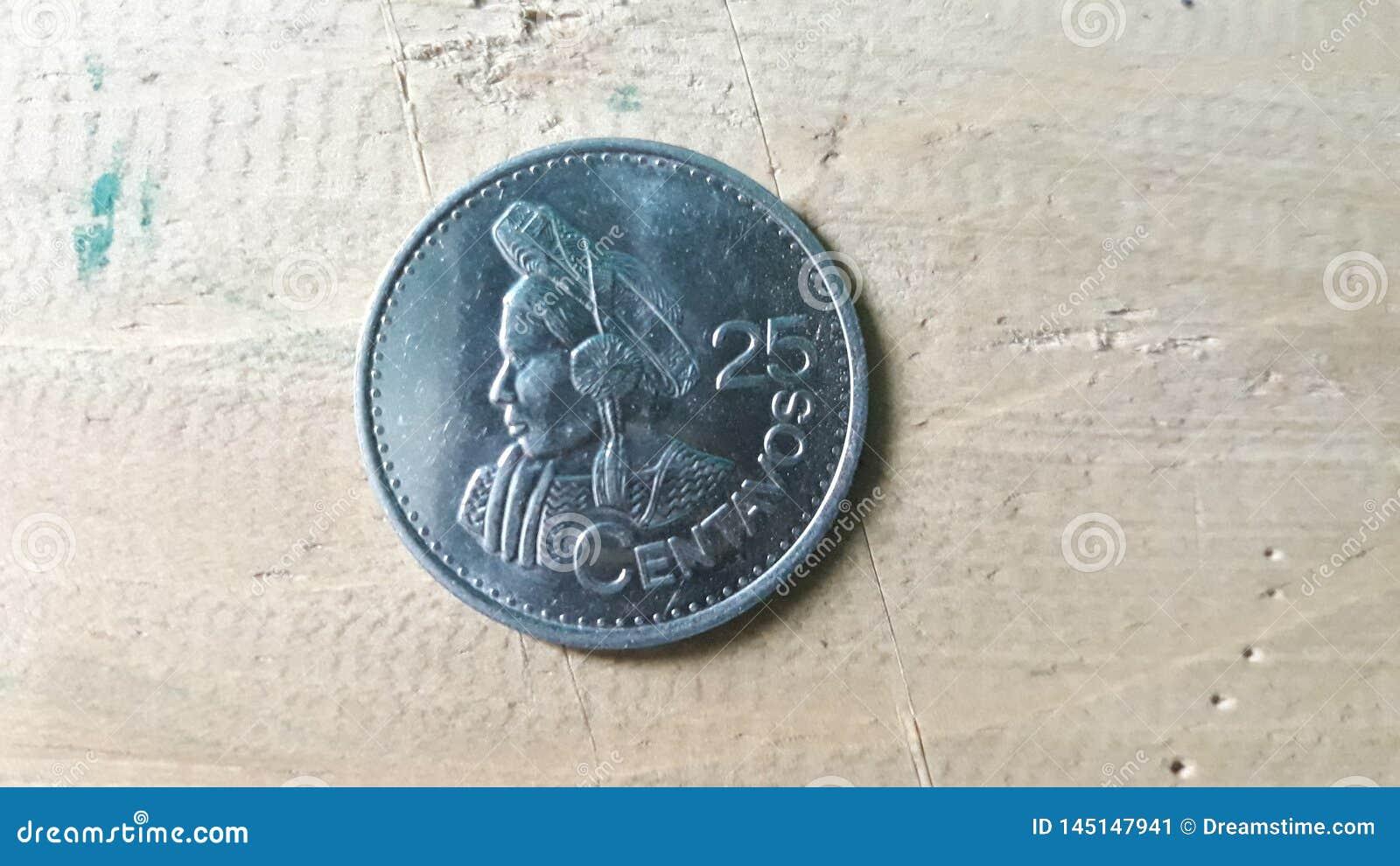 25 σεντ από το QUETZAL, Γουατεμάλα