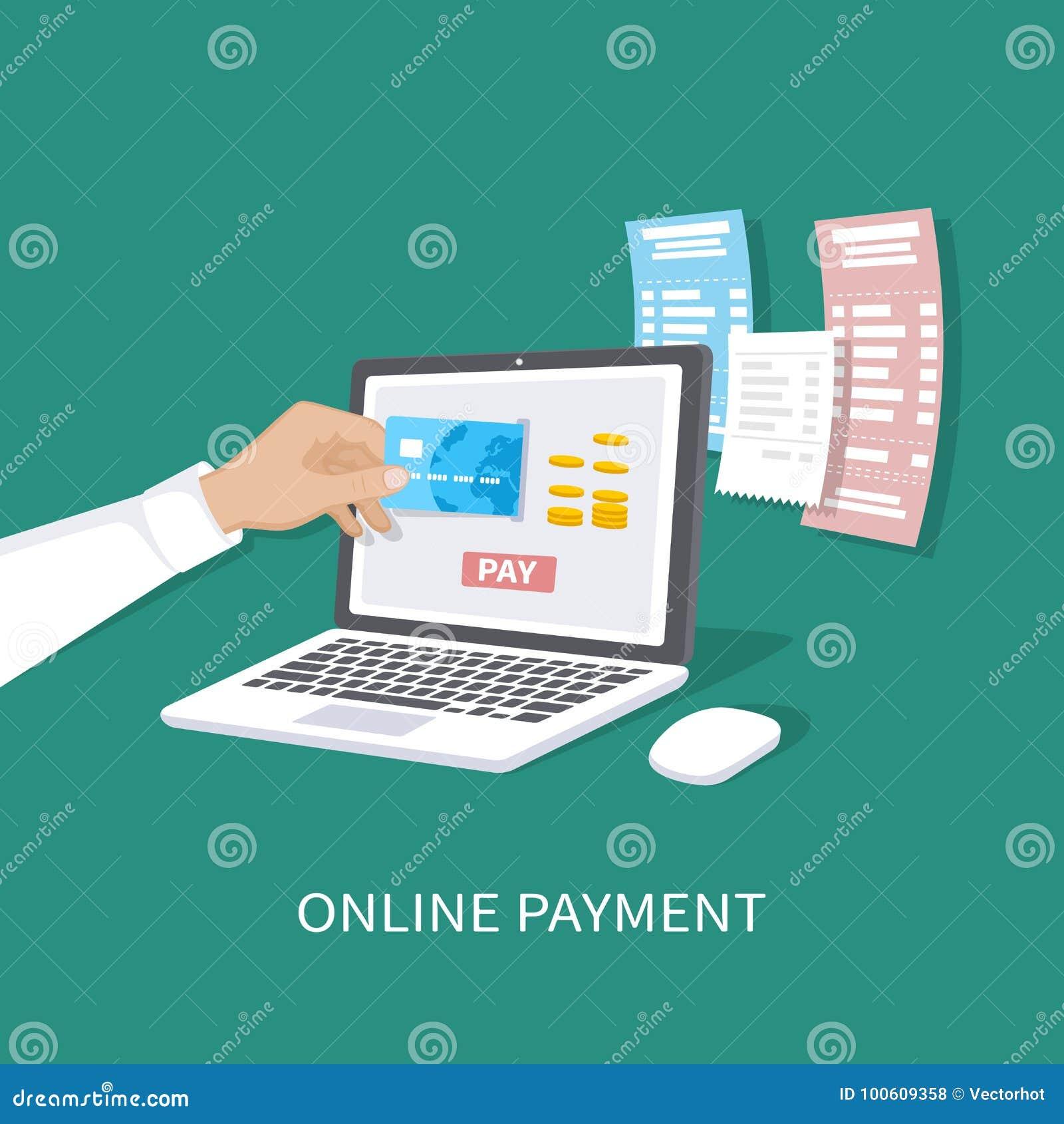 Σε απευθείας σύνδεση έννοια πληρωμής Πληρωμή των λογαριασμών, έλεγχοι, on-line που ψωνίζει μέσω κινητό app Ηλεκτρονικό εμπόριο, η