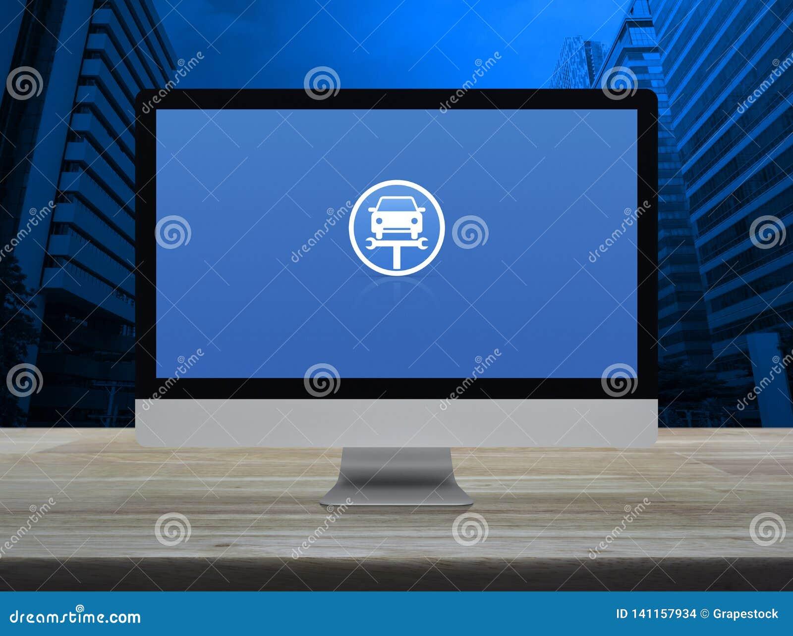 Σε απευθείας σύνδεση έννοια υπηρεσιών αυτοκινήτων επιχειρησιακής επισκευής