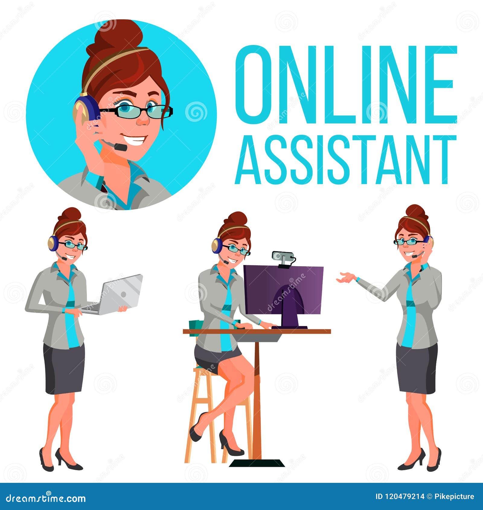 Σε απευθείας σύνδεση βοηθητικό διάνυσμα γυναικών Συμβουλευτικός πελάτης Βοήθεια πελατών απεικόνιση