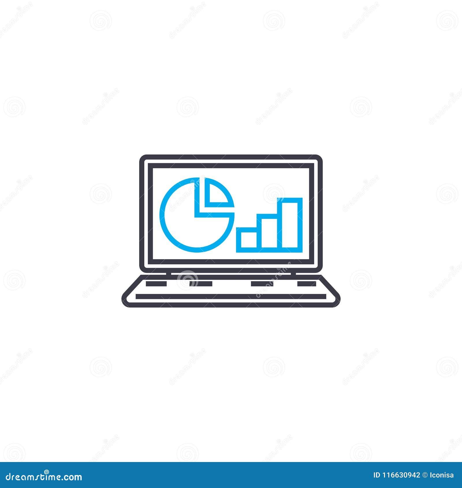 Σε απευθείας σύνδεση εικονίδιο κτυπήματος γραμμών εκθέσεων διανυσματικό λεπτό Σε απευθείας σύνδεση απεικόνιση περιλήψεων εκθέσεων