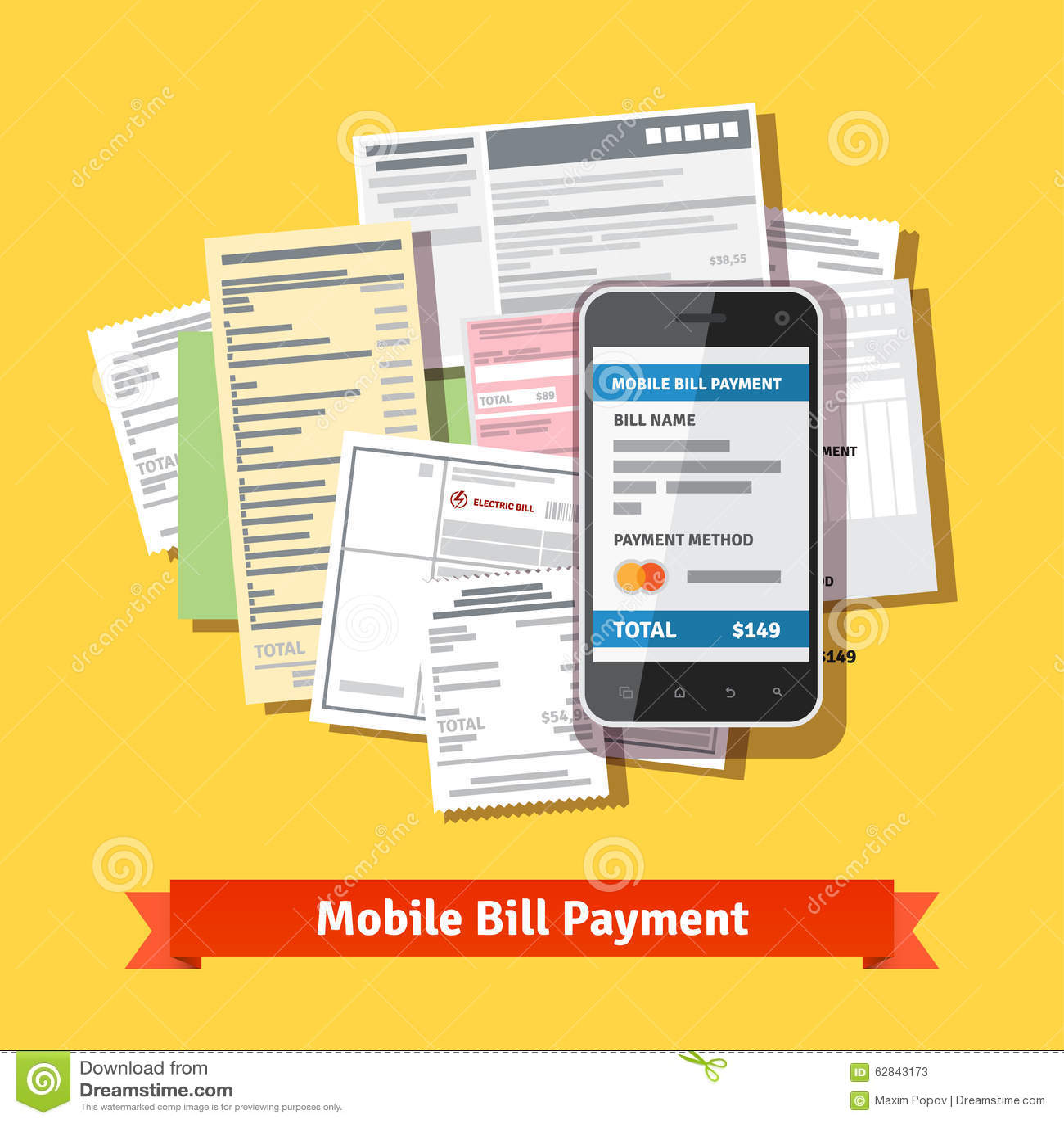 Σε απευθείας σύνδεση κινητή πληρωμή λογαριασμών smartphone