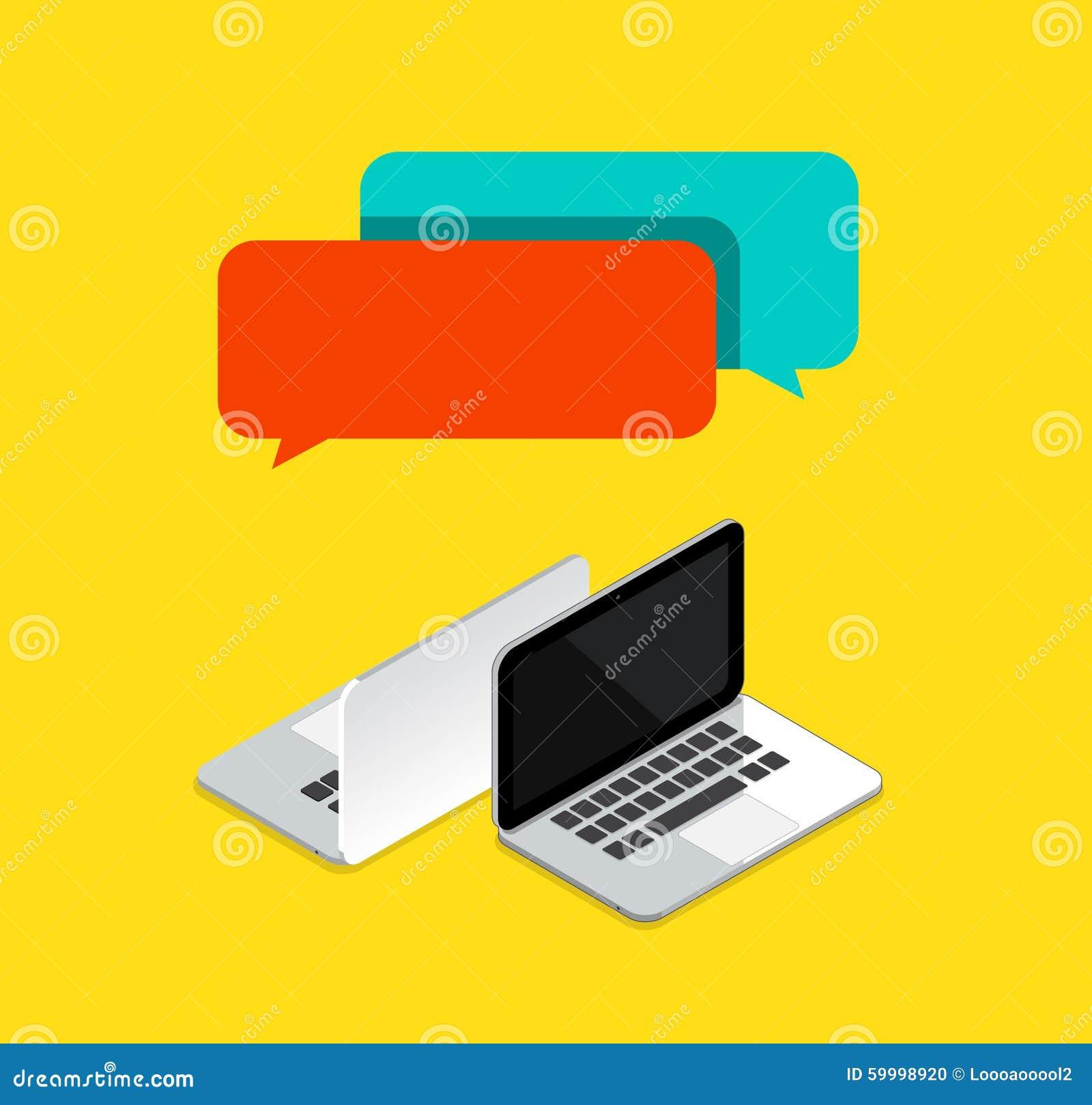 Σε απευθείας σύνδεση συνομιλίες μεταξύ της έννοιας 2 υπολογιστών επίσης corel σύρετε το διάνυσμα απεικόνισης