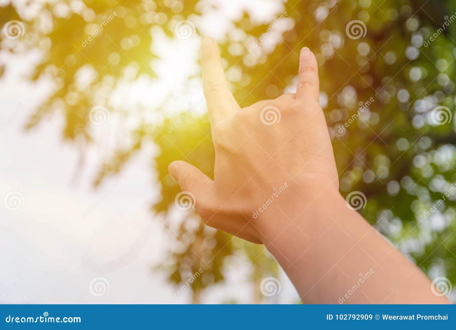 Σημάδι αγάπης με το χέρι