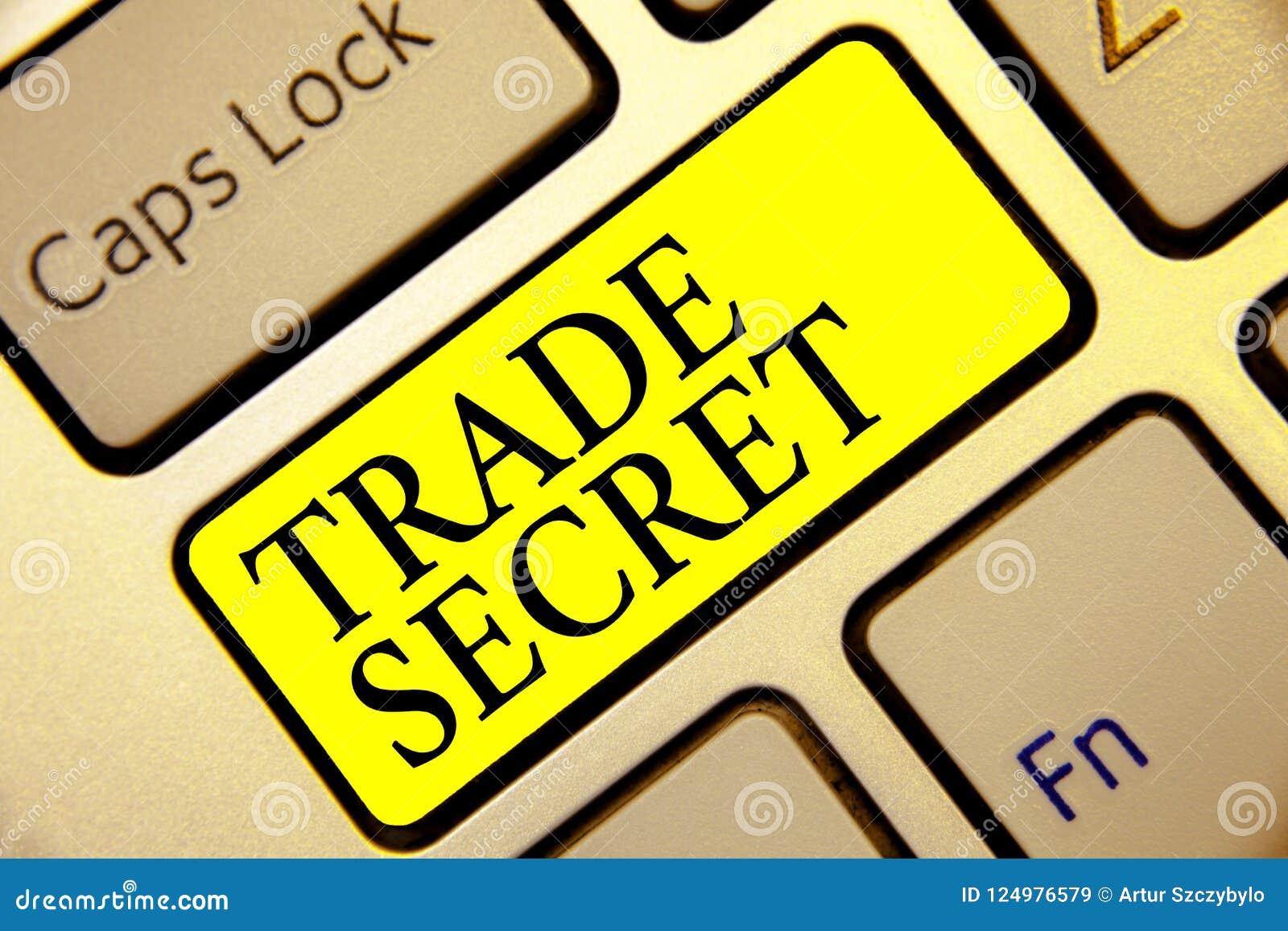 Σημάδι κειμένων που παρουσιάζει εμπορικό μυστικό Εννοιολογική εμπιστευτική πληροφορία φωτογραφιών για ένα πληκτρολόγιο κίτρινη KE