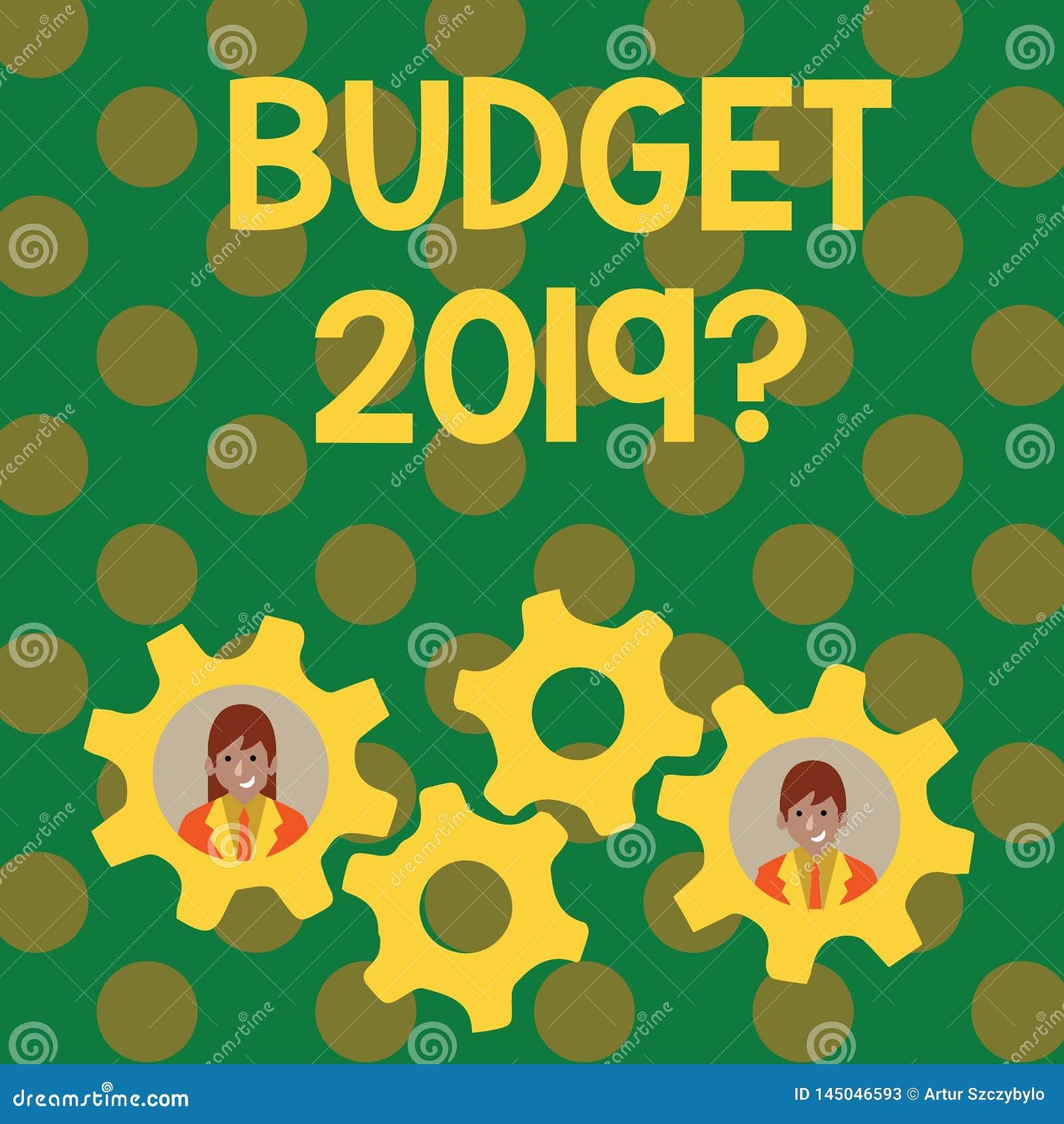 Σημάδι κειμένων που παρουσιάζει ερώτηση προϋπολογισμών 2019 Εννοιολογι