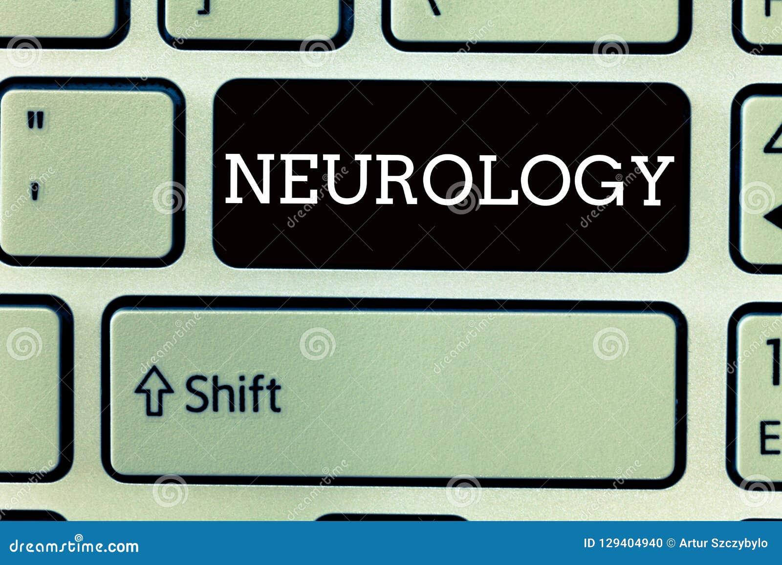Σημάδι κειμένων που παρουσιάζει νευρολογία Εννοιολογικός κλάδος φωτογραφιών της ιατρικής που εξετάζει τις αναταραχές του νευρικού