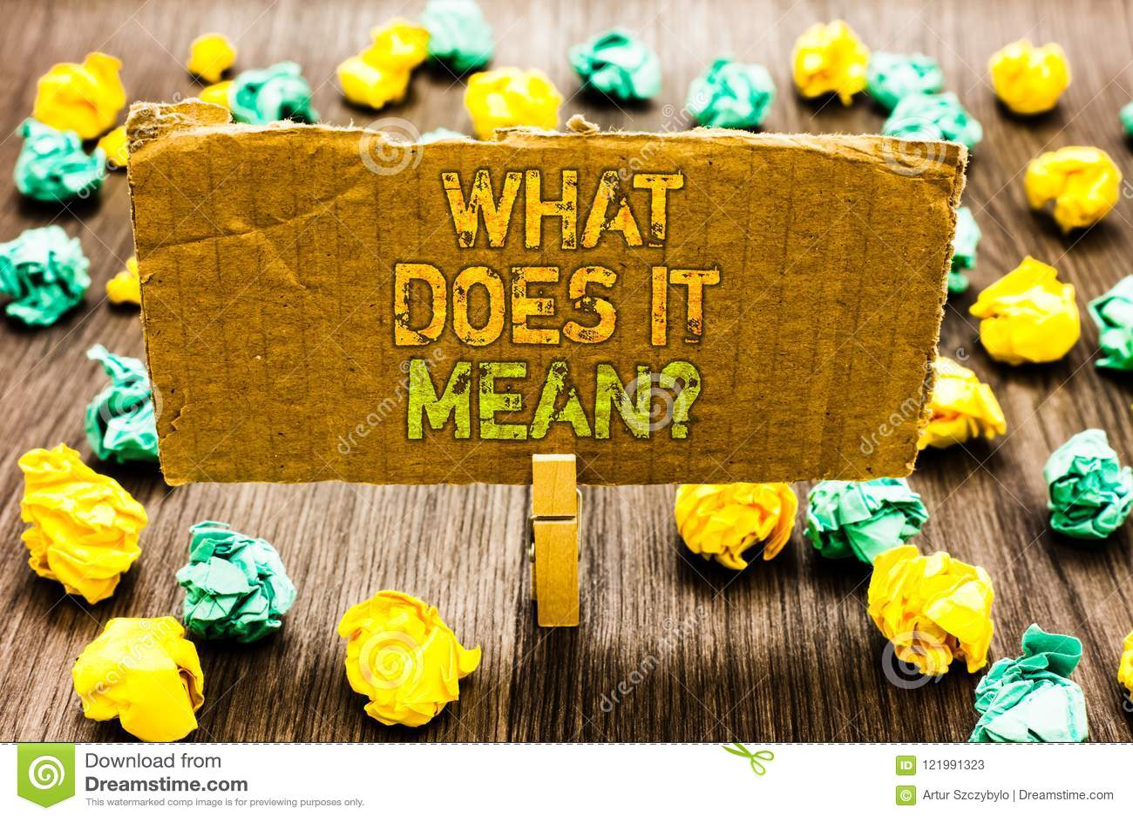Σημάδι κειμένων που παρουσιάζει τι σημαίνει αυτό ερώτηση Η εννοιολογική φωτογραφία μου δίνει το νόημα κάτι πιάσιμο Paperclip καθο