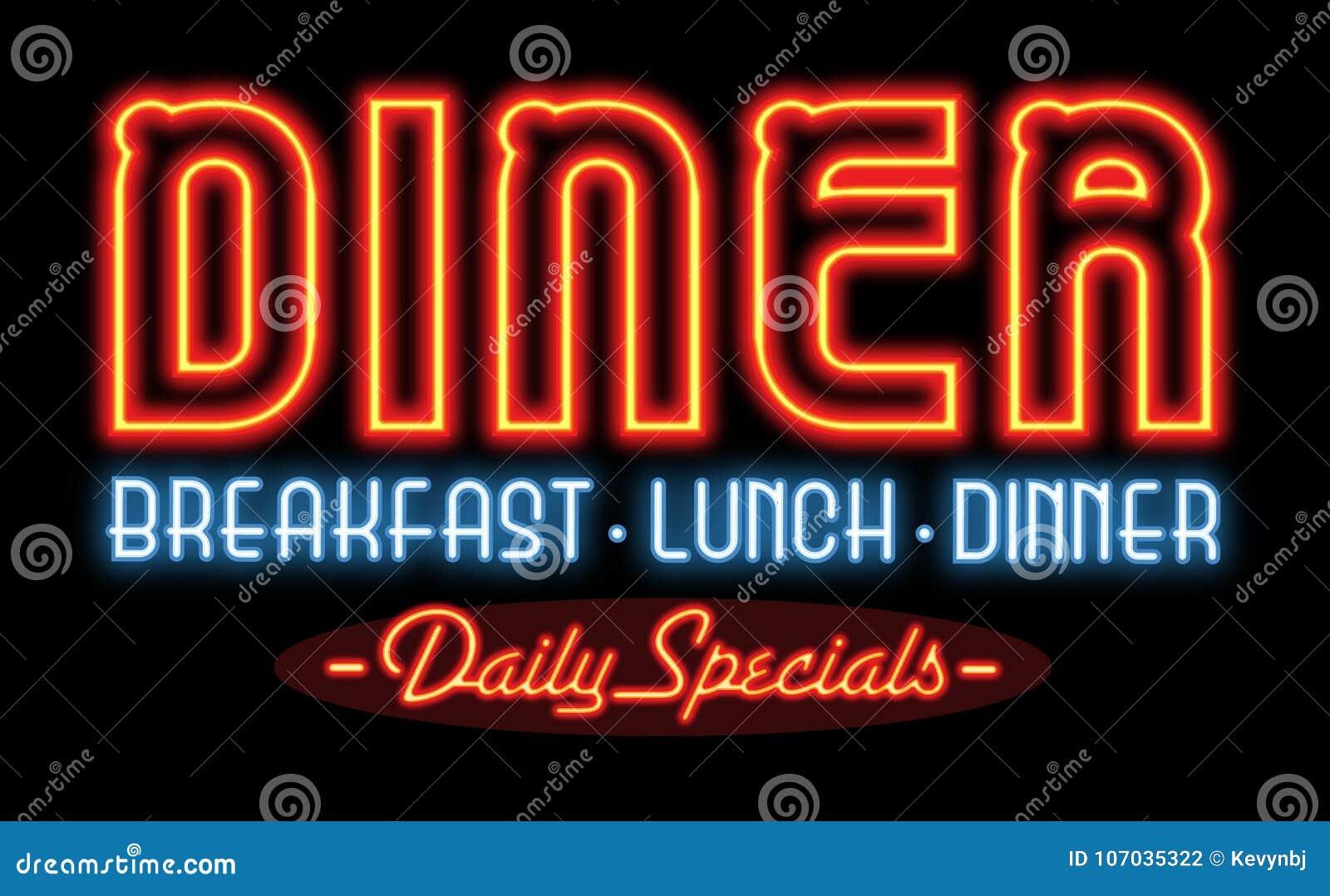 Σημάδι νέου γευματιζόντων εστιατορίων