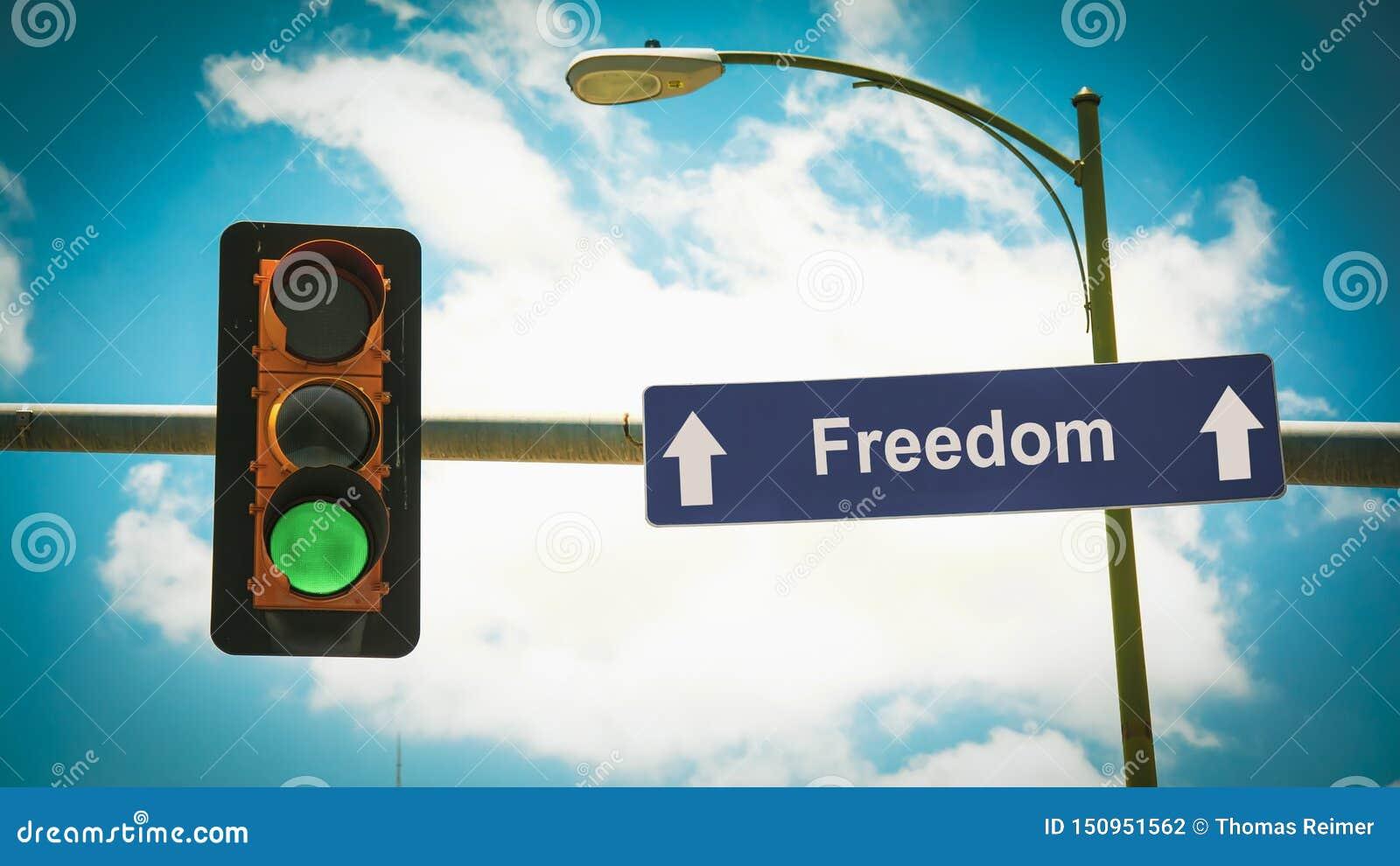 Σημάδι οδών στην ελευθερία