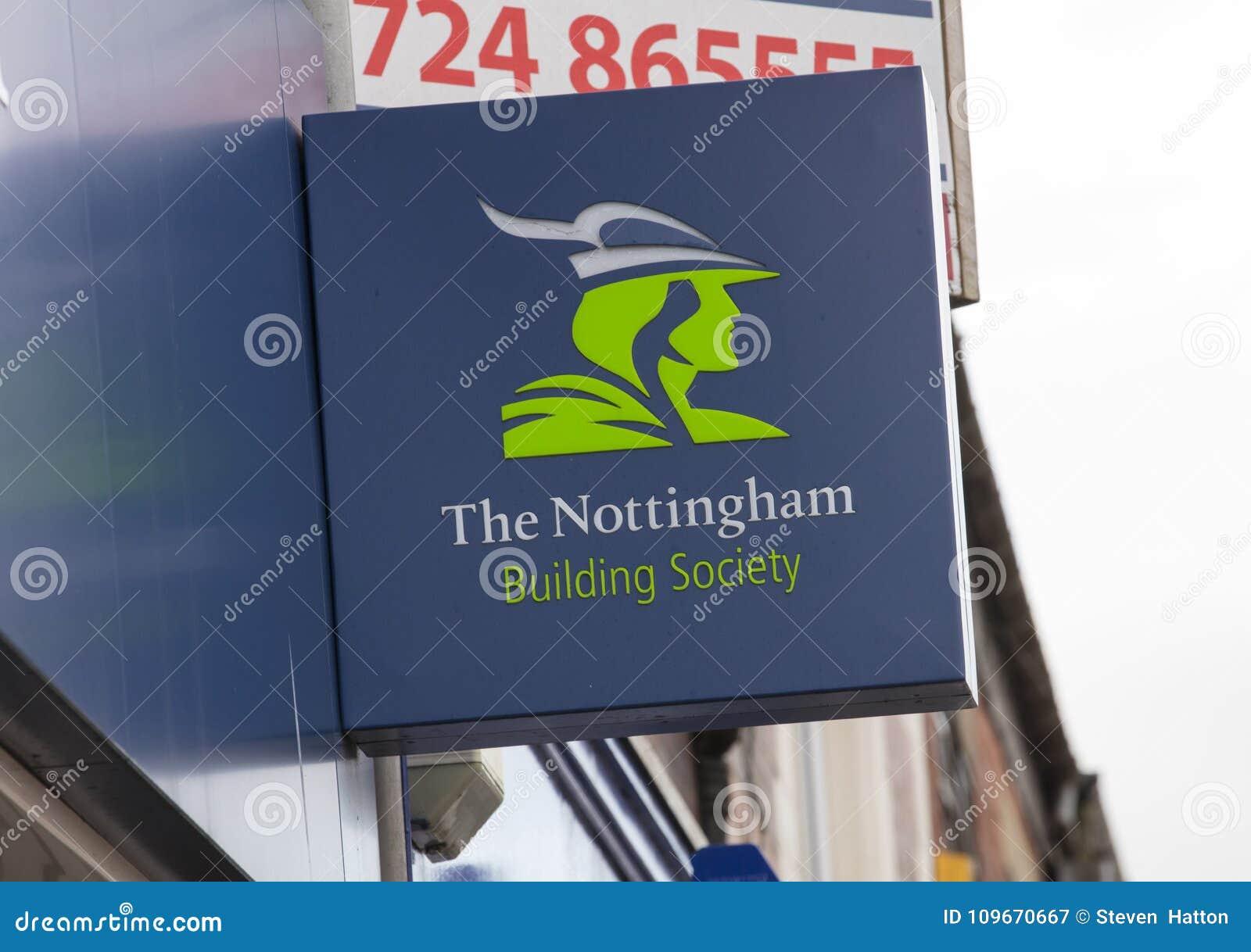 Σημάδι οικοδομικής εταιρείας του Νόττιγχαμ στην κεντρική οδό - Scunthorpe