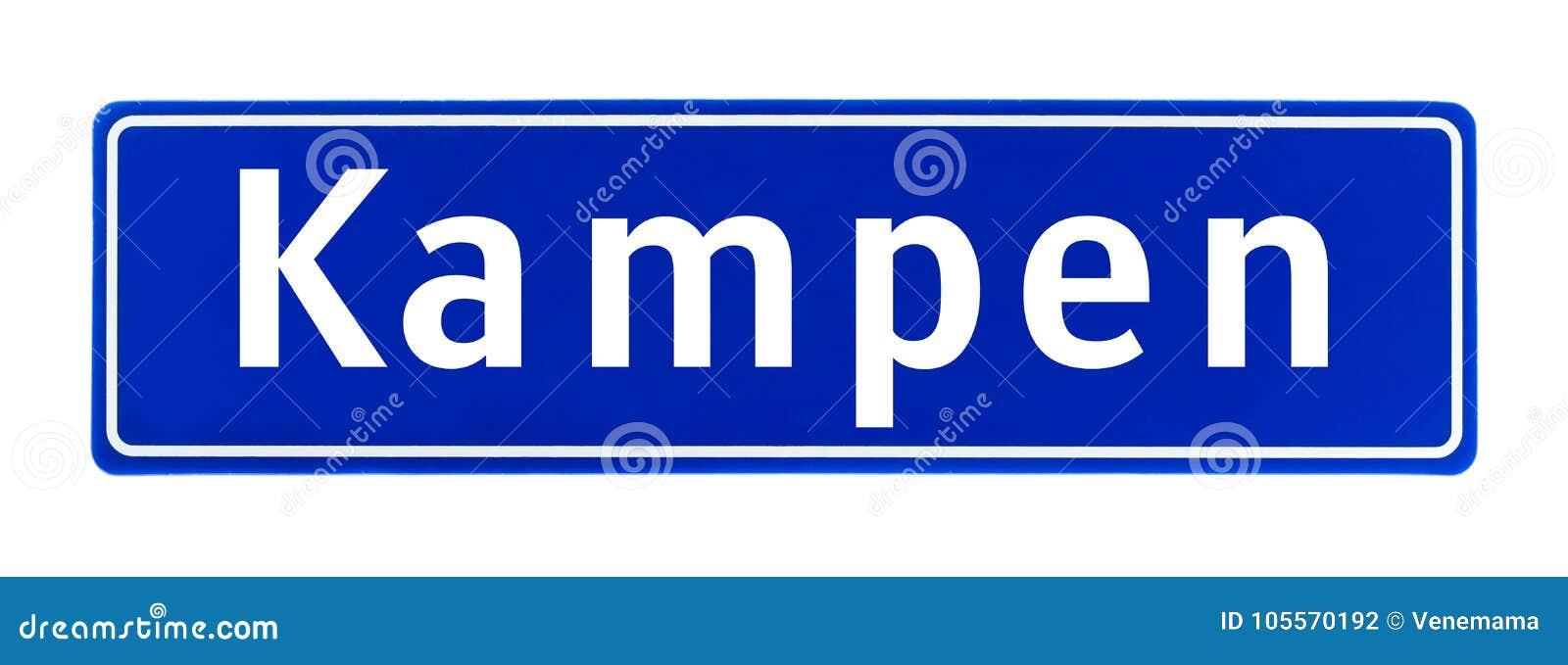 Σημάδι ορίου πόλεων Kampen, οι Κάτω Χώρες