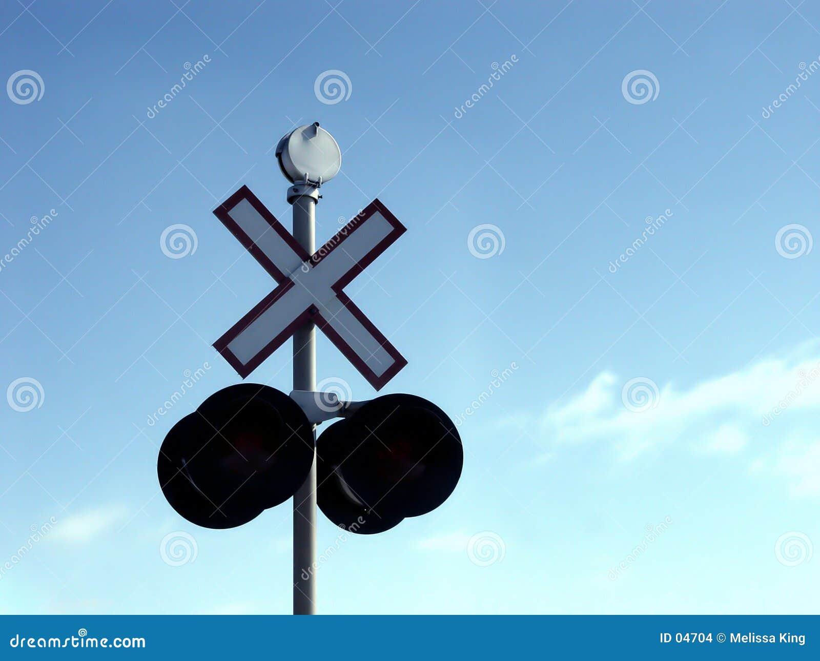 σημάδι σιδηροδρόμων