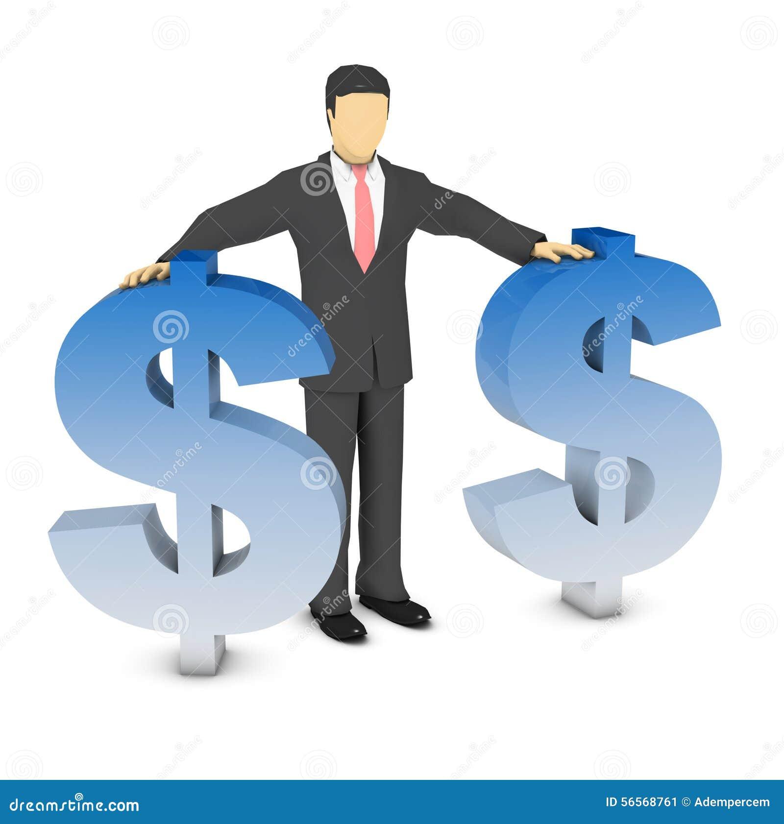 Download Σημάδι επιχειρηματιών και δολαρίων Απεικόνιση αποθεμάτων - εικονογραφία από δολάριο, άτομο: 56568761