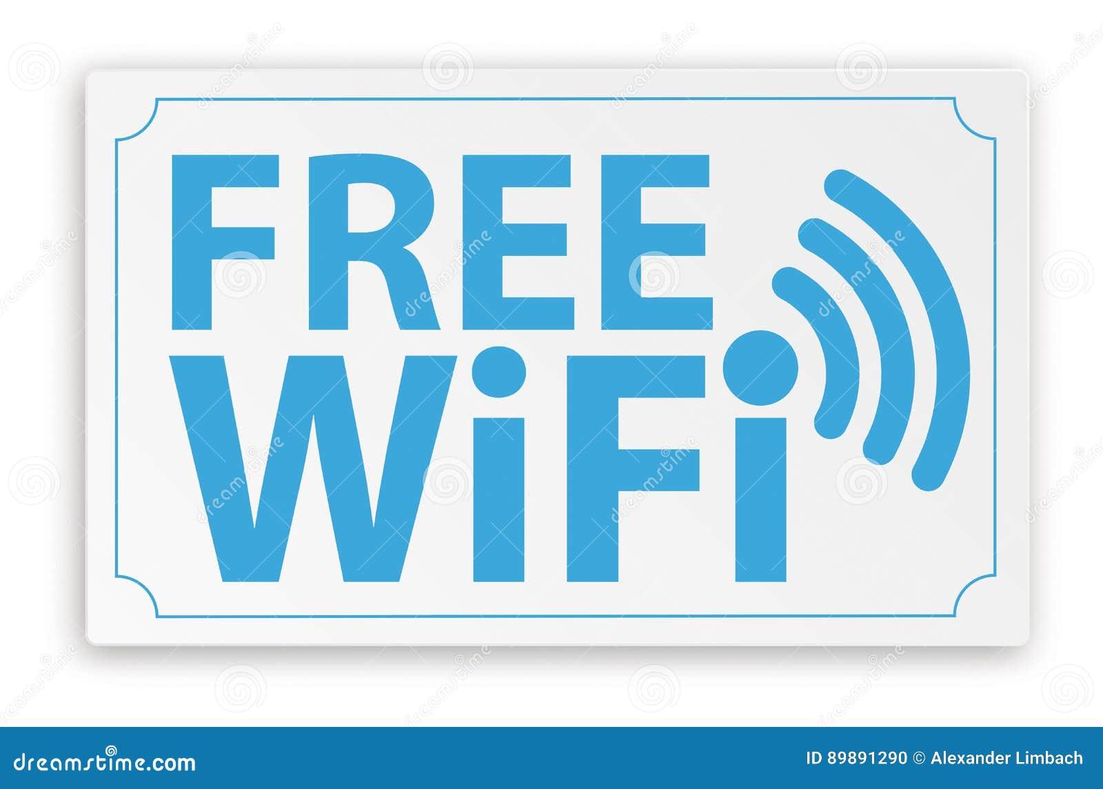 Σημάδι ελεύθερο WiFi εγγράφου