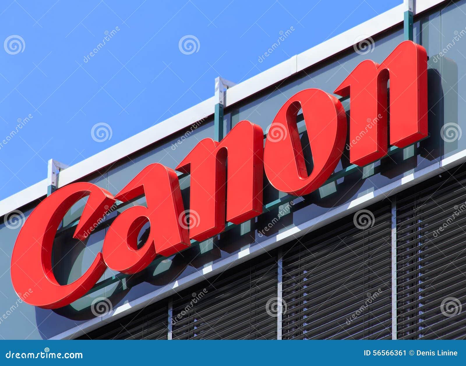 Download Σημάδι στο κτίριο γραφείων της Canon Εκδοτική Εικόνες - εικόνα από λογότυπο, απεικόνιση: 56566361