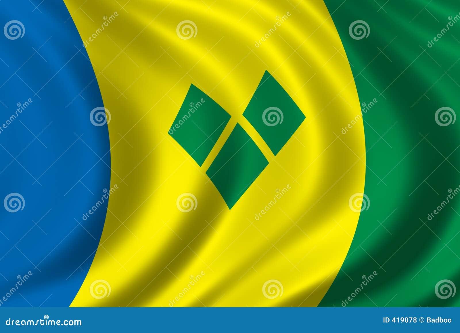 σημαία Άγιος vincent