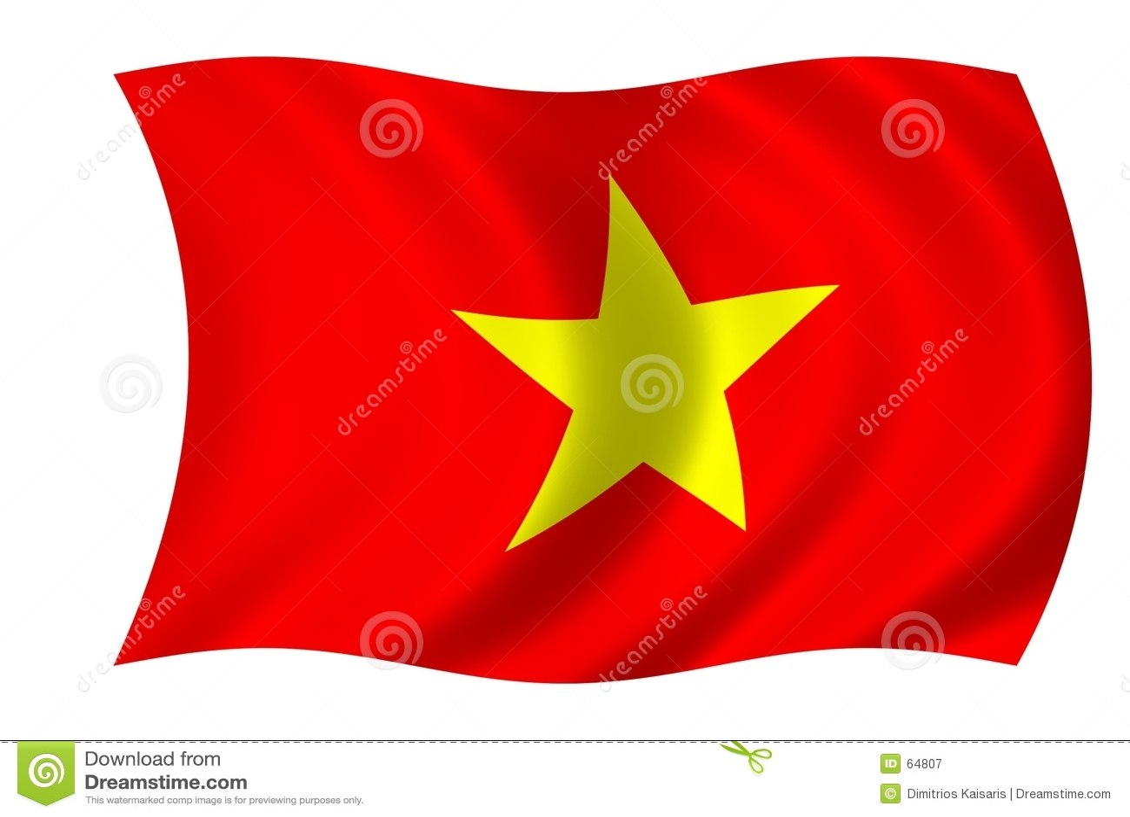 Download σημαία Βιετνάμ απεικόνιση αποθεμάτων. εικονογραφία από κύματα - 64807