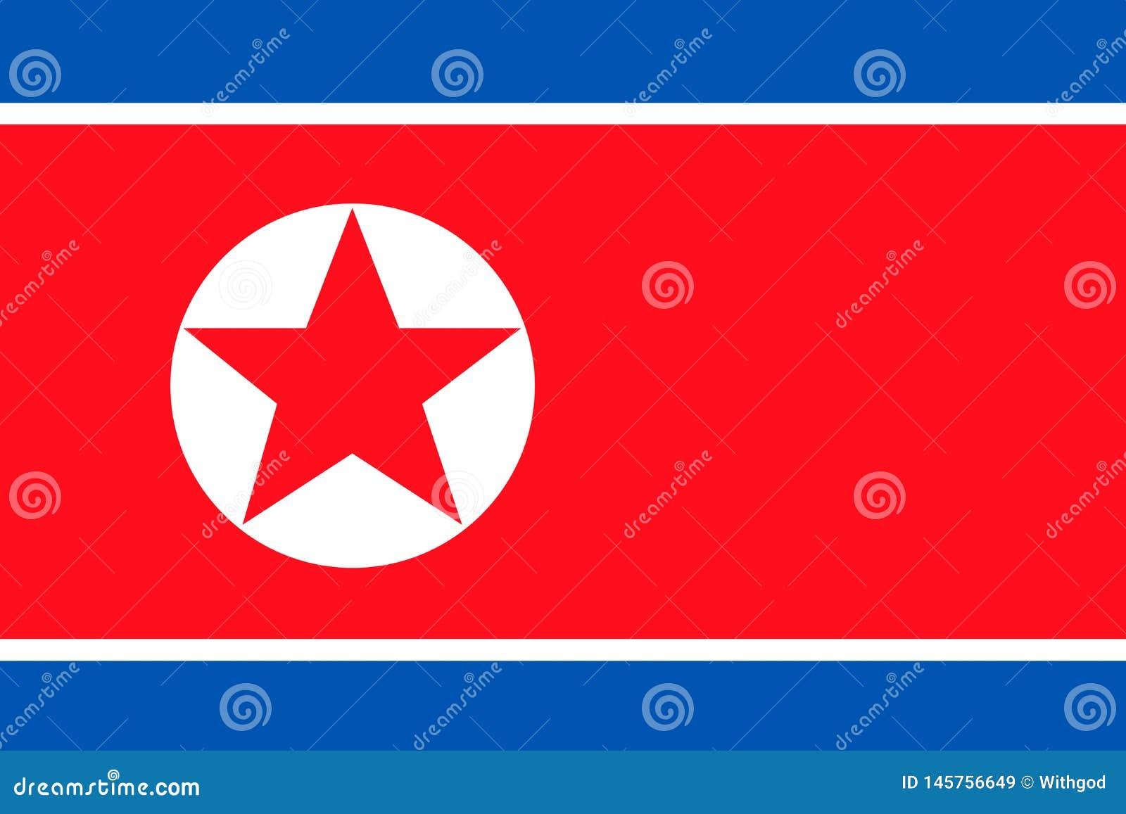 Σημαία Βόρεια Κορεών
