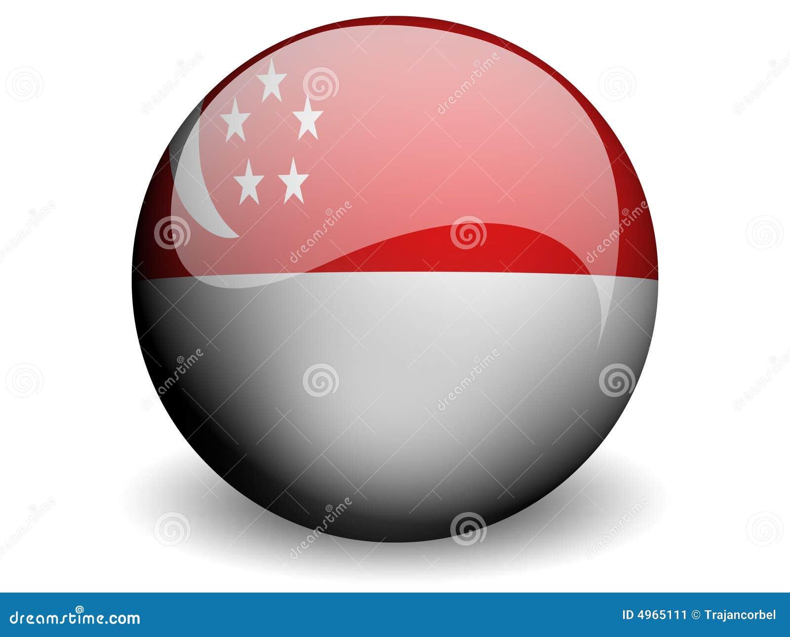 σημαία γύρω από Σινγκαπούρη