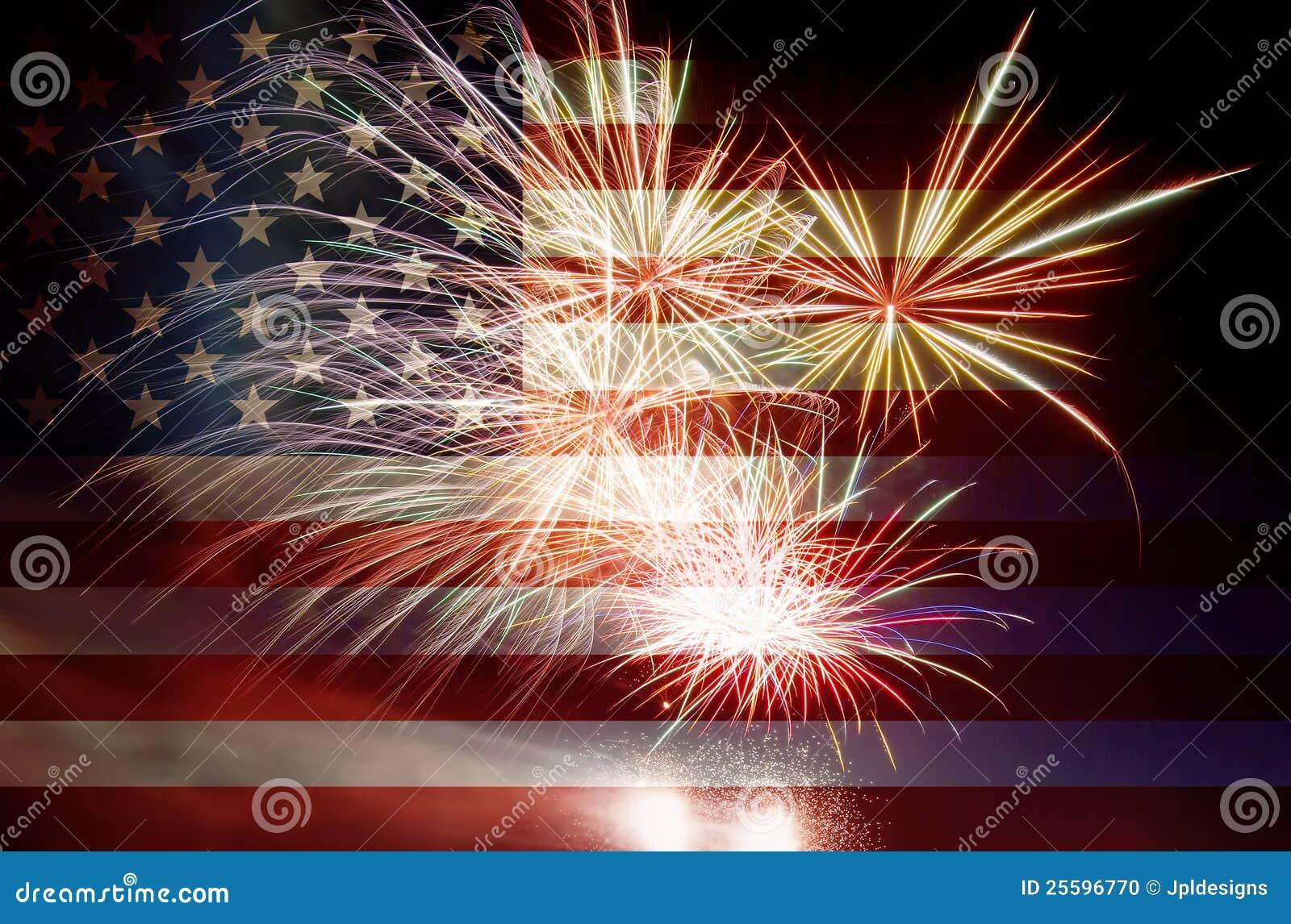σημαία ΗΠΑ πυροτεχνημάτων