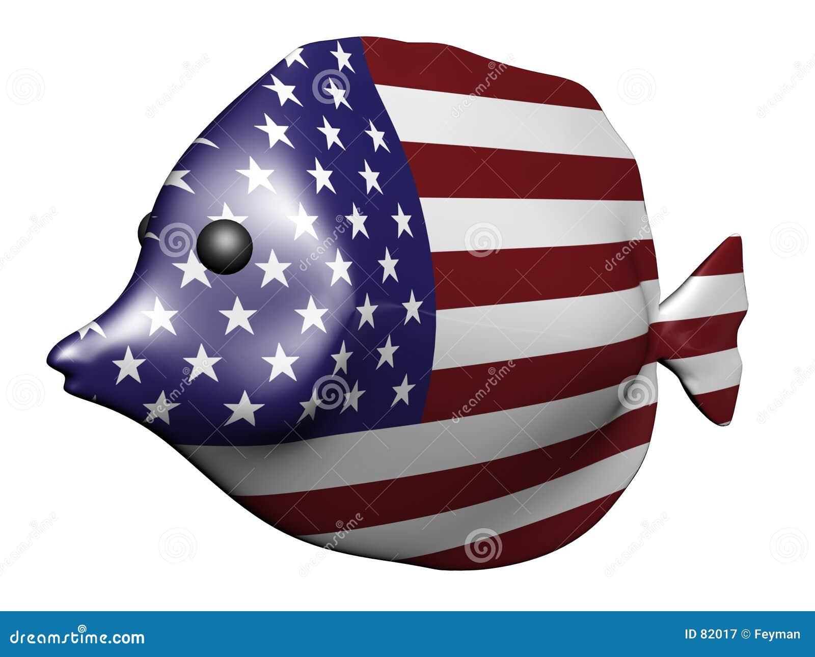 σημαία ΗΠΑ ψαριών