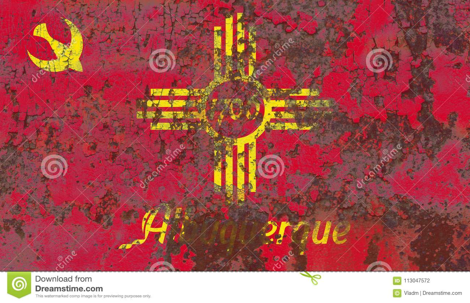 Σημαία καπνού πόλεων του Αλμπικέρκη, κράτος Νέων Μεξικό, Πολιτεία