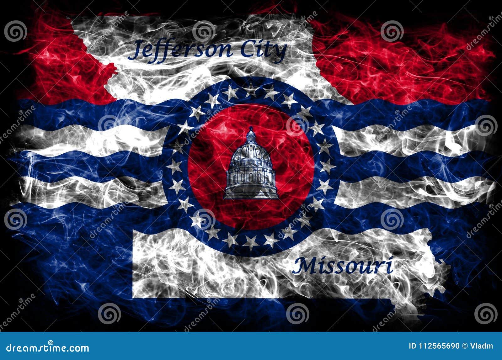 Σημαία καπνού πόλεων πόλεων του Jefferson, κράτος του Μισσούρι, Πολιτεία