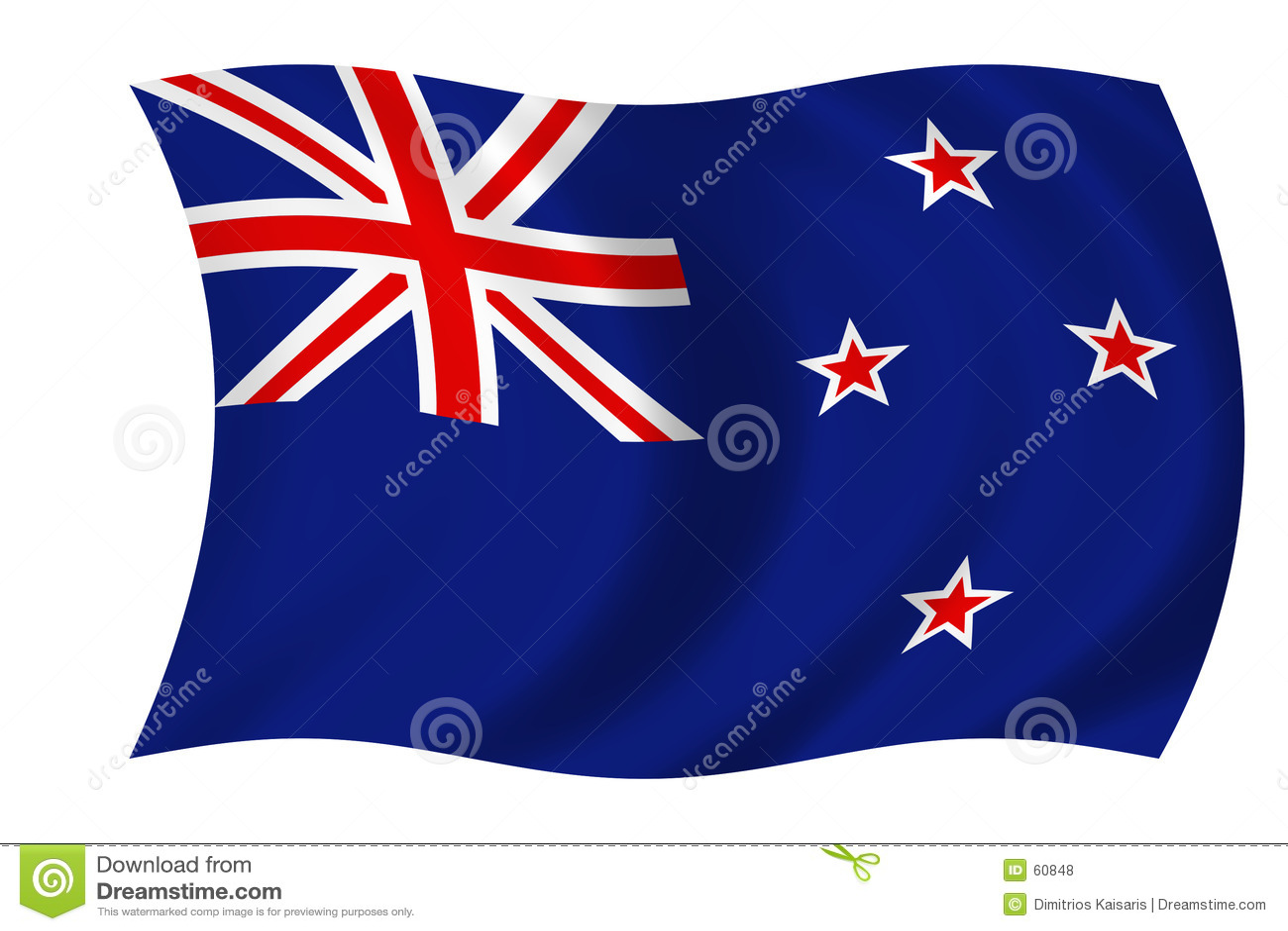 Download σημαία Νέα Ζηλανδία απεικόνιση αποθεμάτων. εικονογραφία από απεικόνιση - 60848