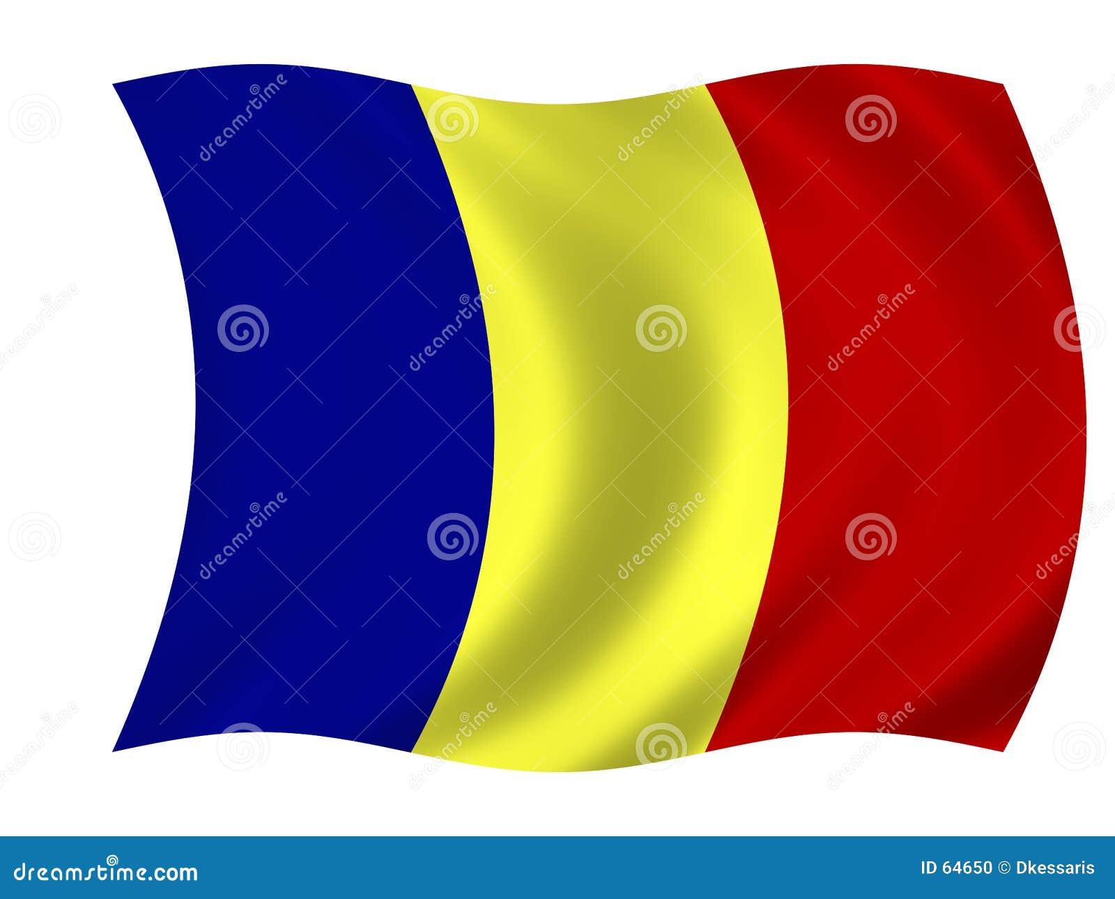 Download σημαία Ρουμανία απεικόνιση αποθεμάτων. εικονογραφία από σημαία - 64650