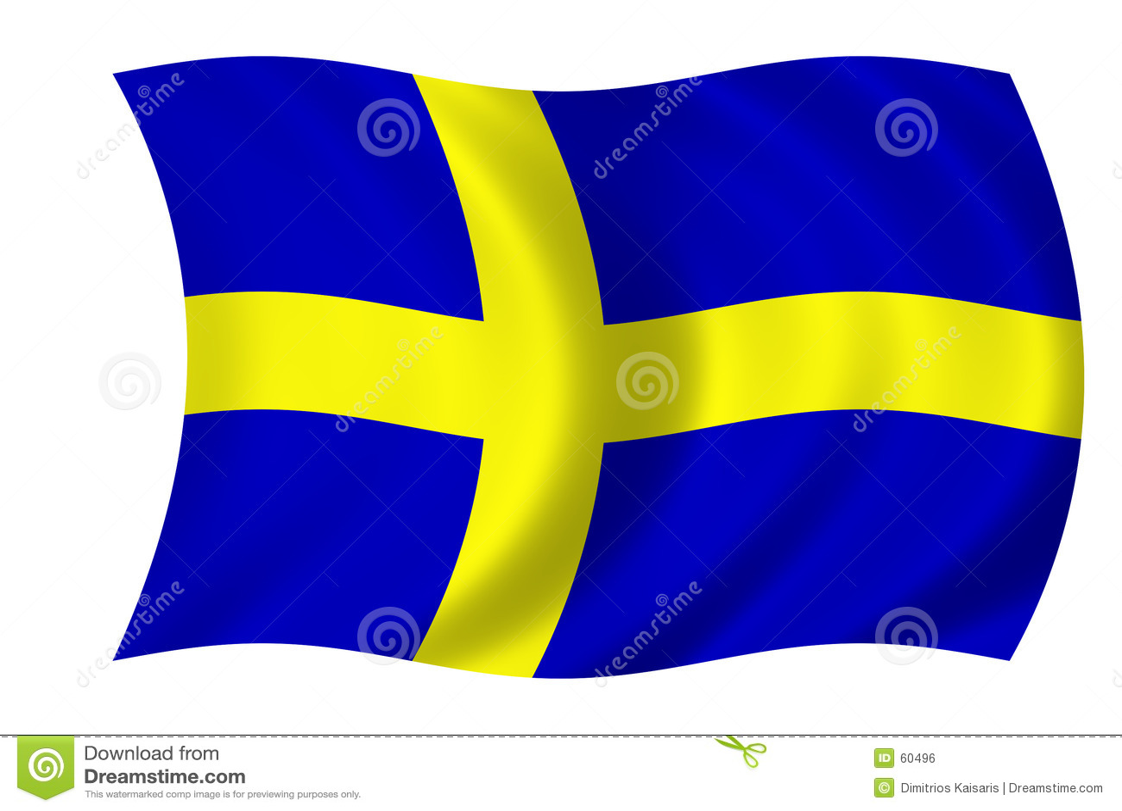 Download σημαία σουηδικά απεικόνιση αποθεμάτων. εικονογραφία από εθνικισμός - 60496