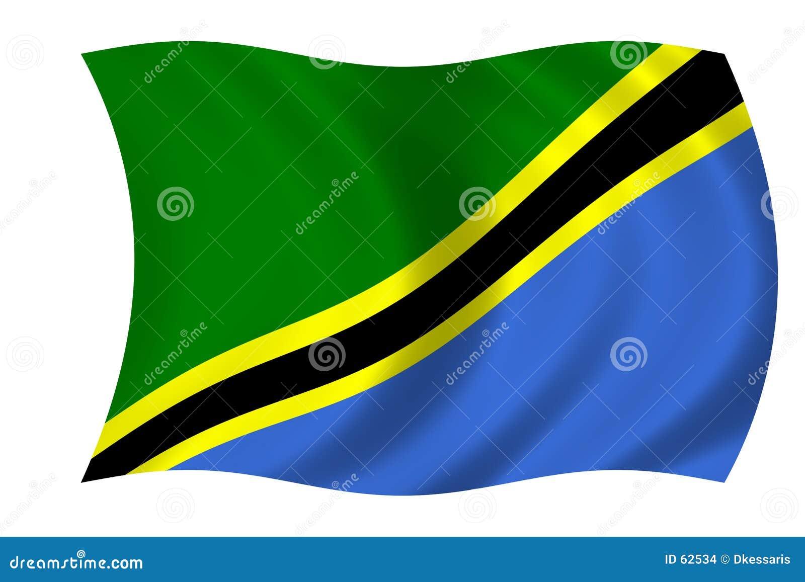 Download σημαία Τανζανία απεικόνιση αποθεμάτων. εικονογραφία από κύματα - 62534
