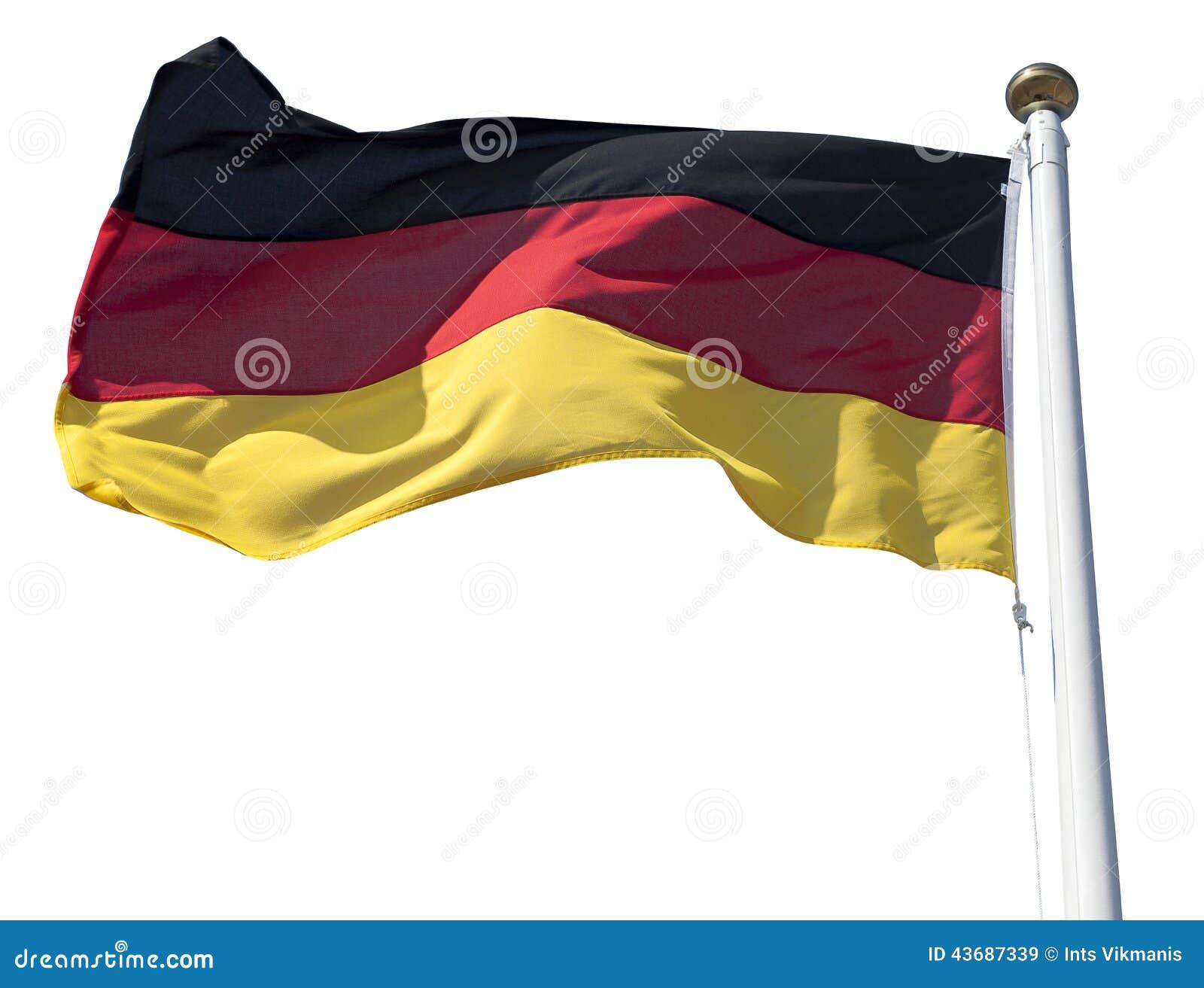 Σημαία της Γερμανίας στο λευκό