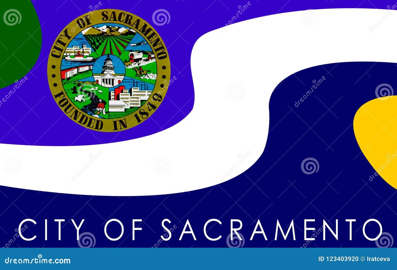 Σημαία του Σακραμέντο, Καλιφόρνια, ΗΠΑ