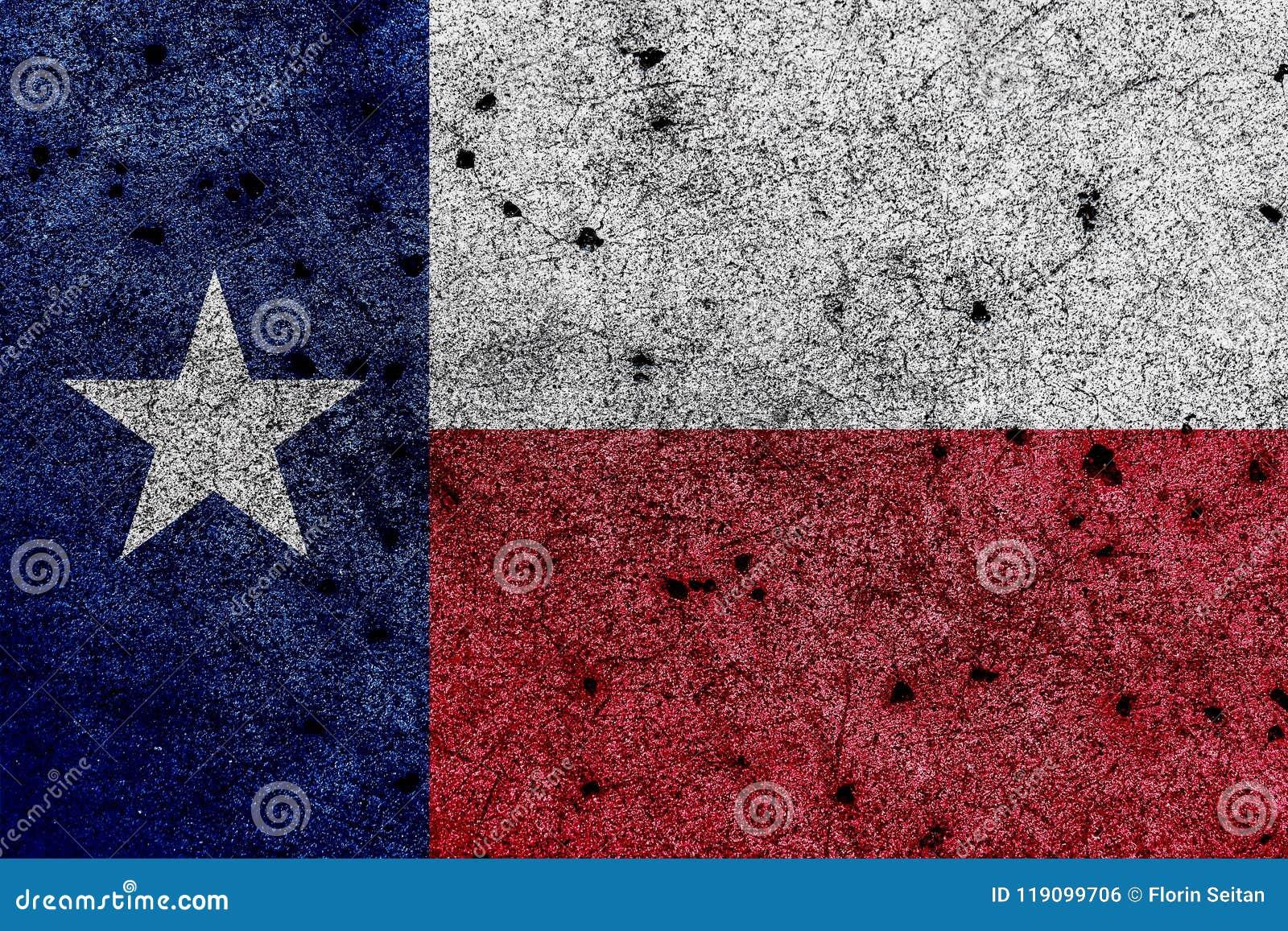 Σημαία του Τέξας/απομονωμένη σημαία αστεριών με τις σωστές γεωμετρικές αναλογίες
