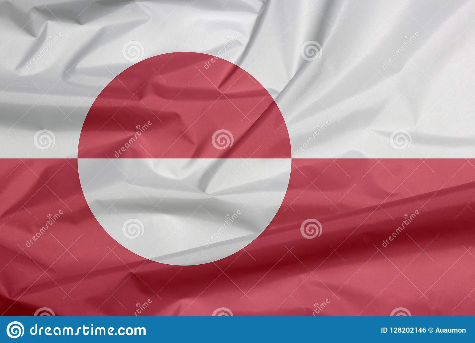 Σημαία υφάσματος της Γροιλανδίας Πτυχή του υποβάθρου σημαιών της Γροιλανδίας